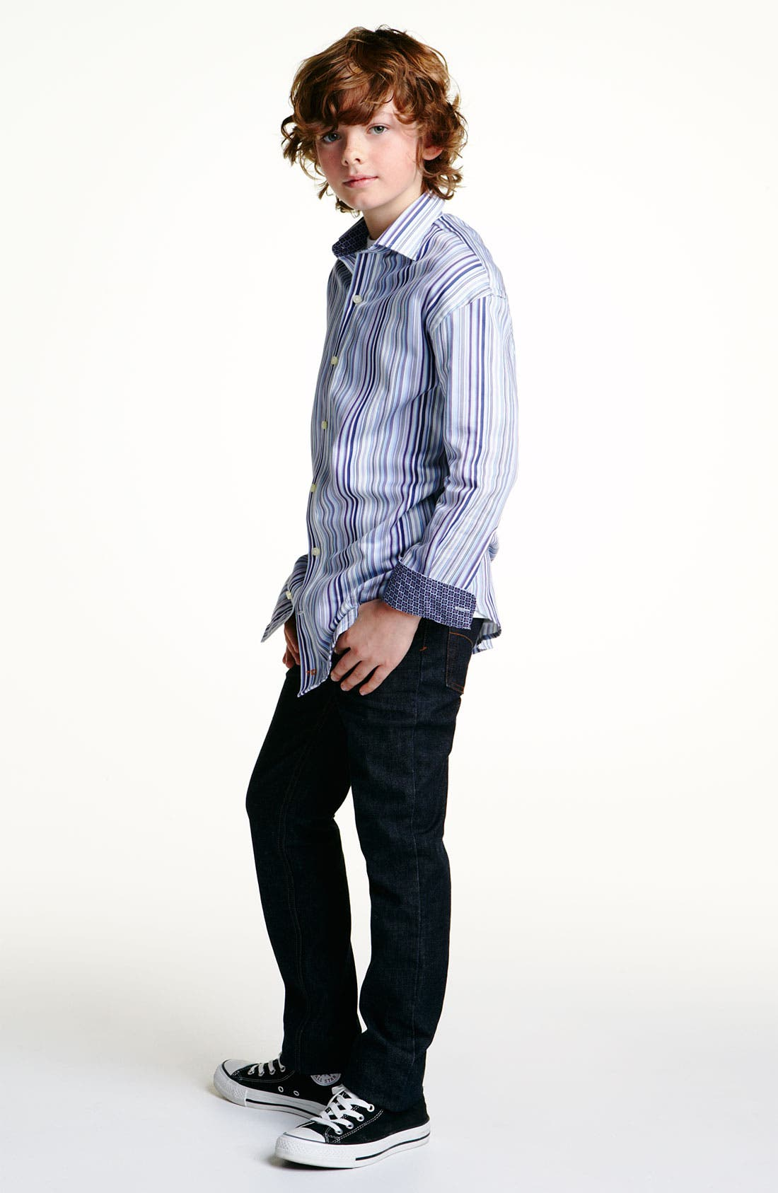 Alternate Image 2  - Thomas Dean Dress Shirt (Big Boys)
