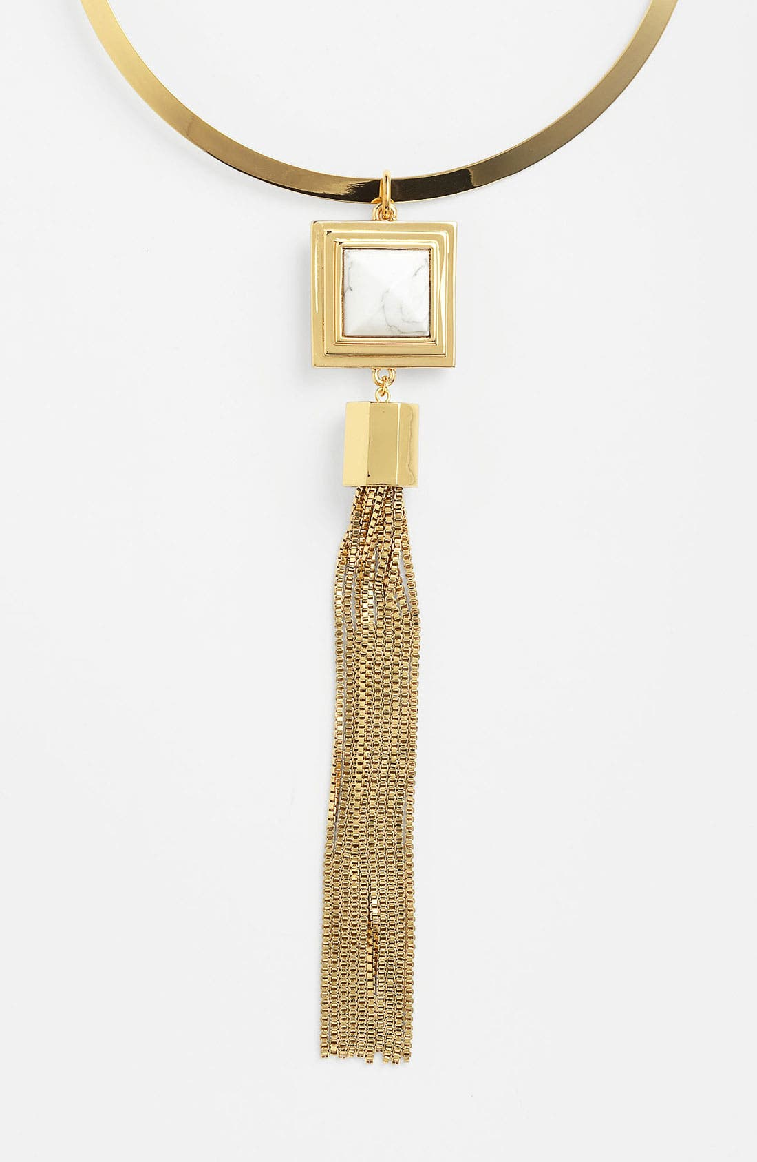 Alternate Image 1 Selected - Vince Camuto 'Pyramid Rocks' Tassel Necklace