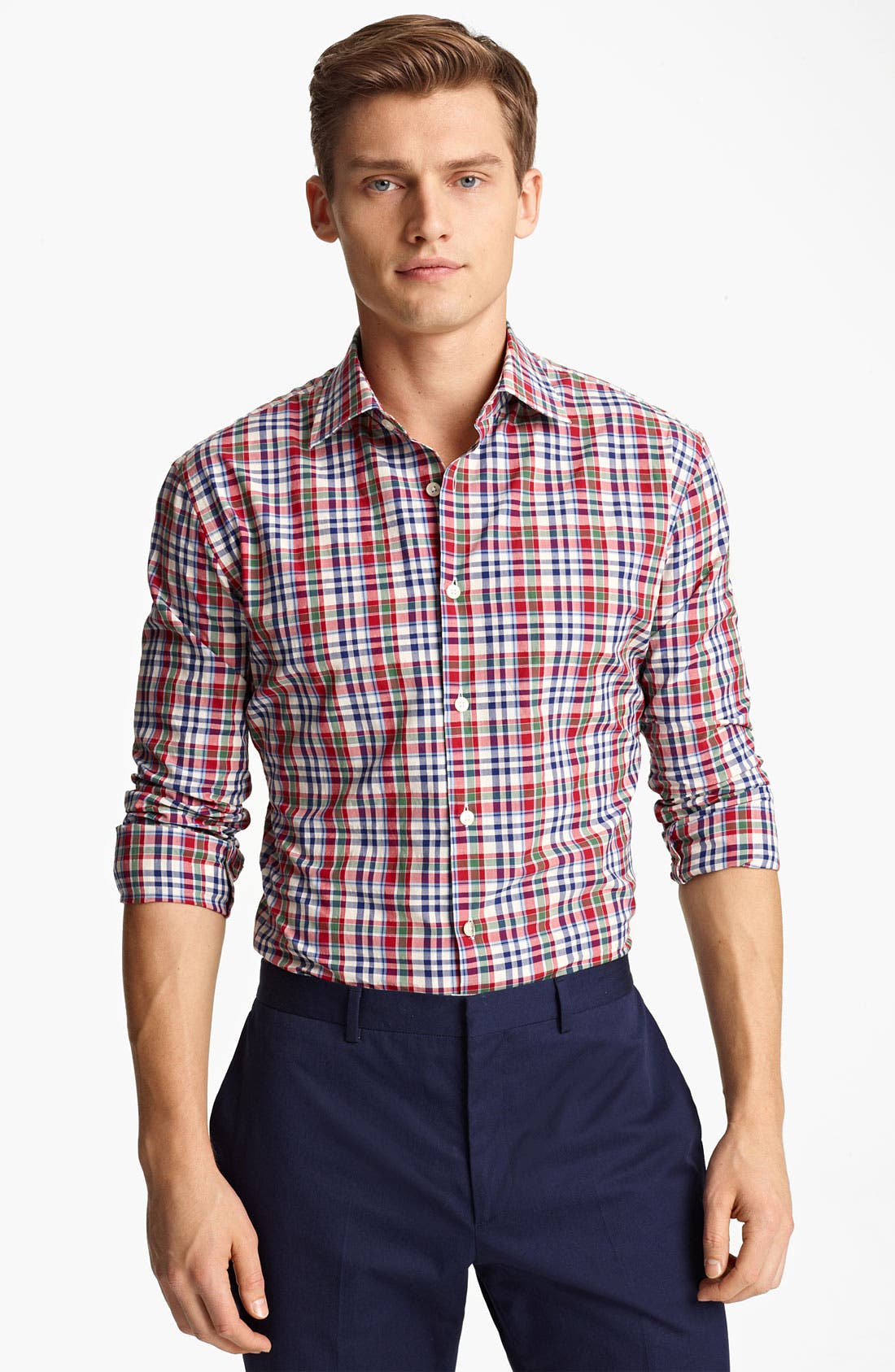 Alternate Image 1 Selected - Paul Smith London Tartan Plaid Shirt