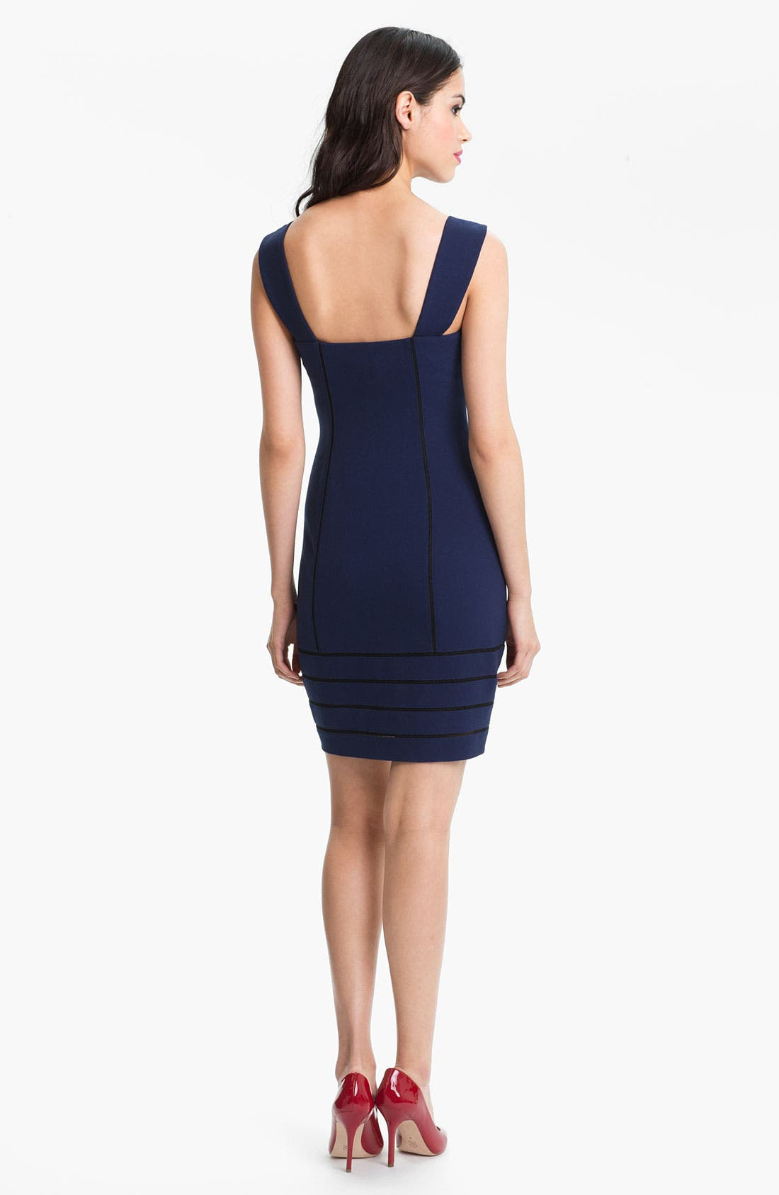 Alternate Image 2  - Aidan by Aidan Mattox Contoured Sweetheart Sheath Dress