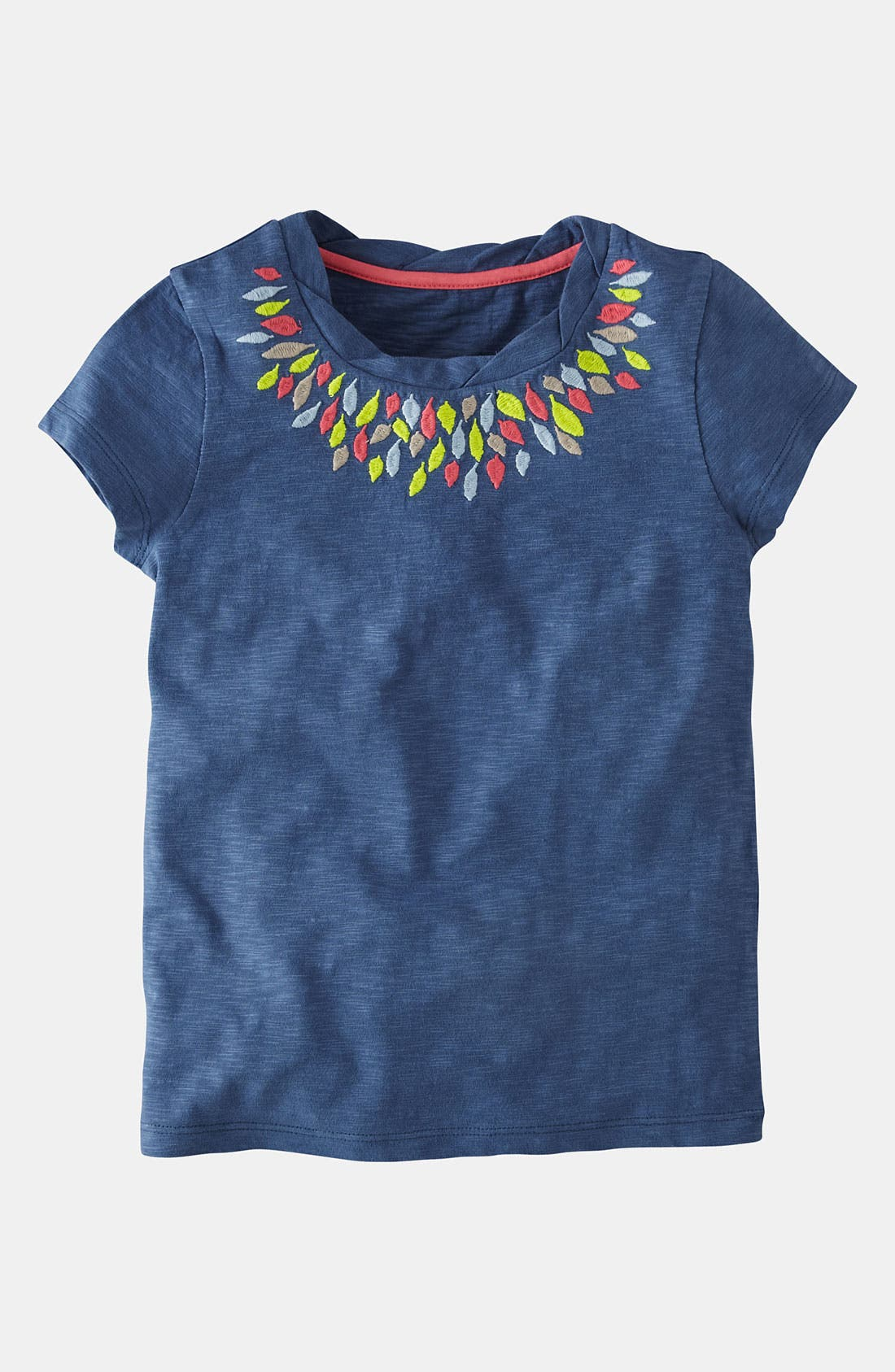 Main Image - Mini Boden 'Pretty' Embroidered Tee (Toddler, Little Girls & Big Girls)