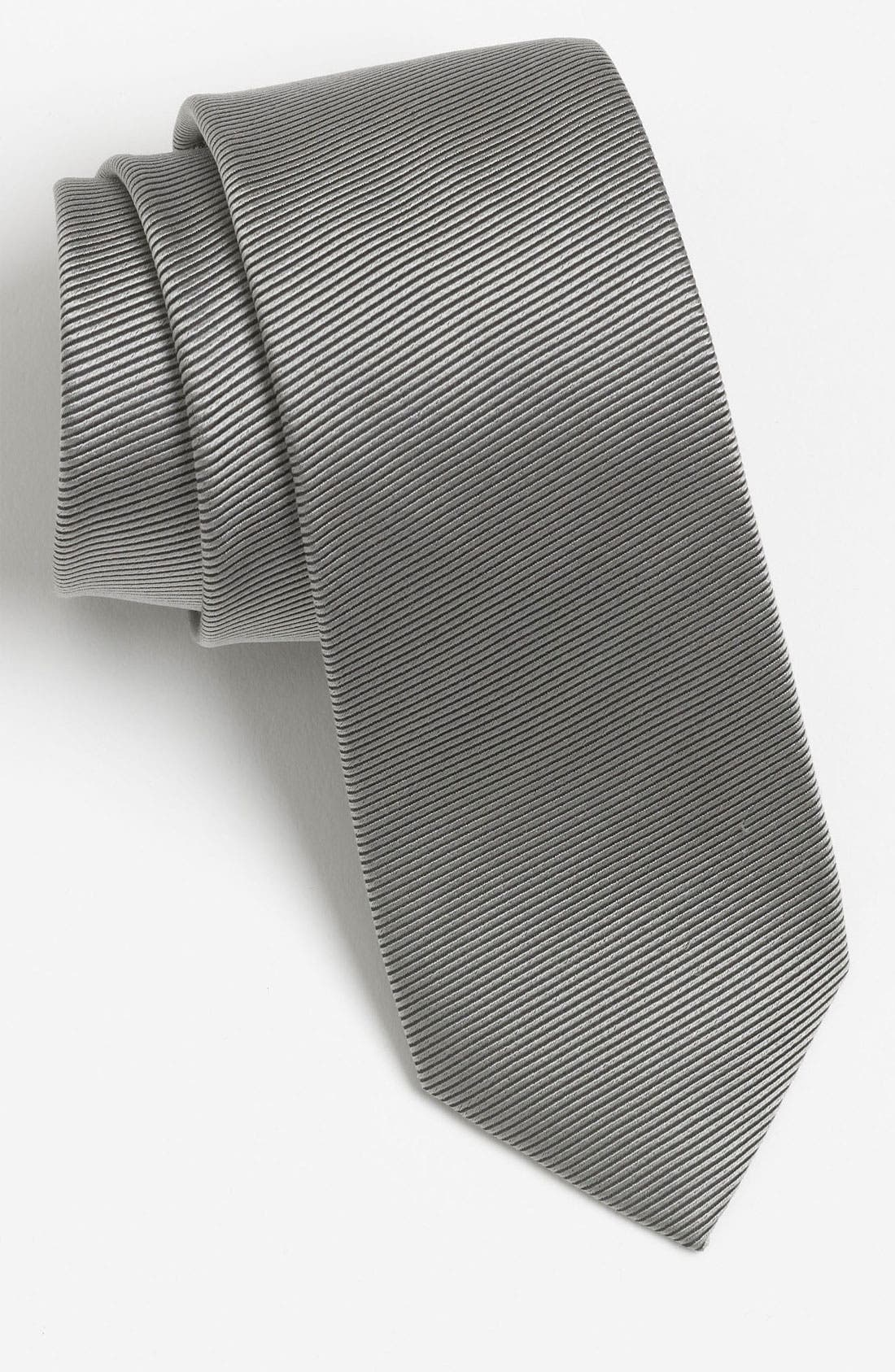 Alternate Image 1 Selected - The Rail Stripe Woven Silk Tie