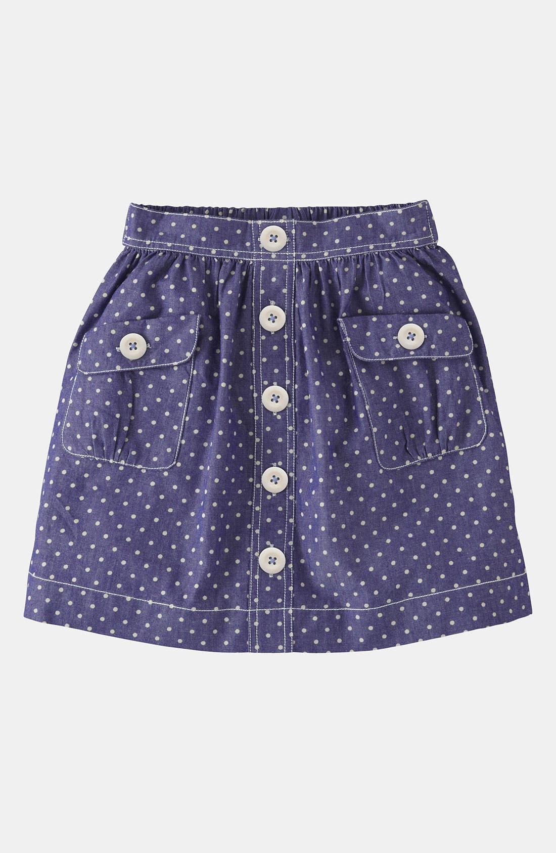 Alternate Image 1 Selected - Mini Boden 'Spotty' Chambray Skirt (Little Girls & Big Girls)