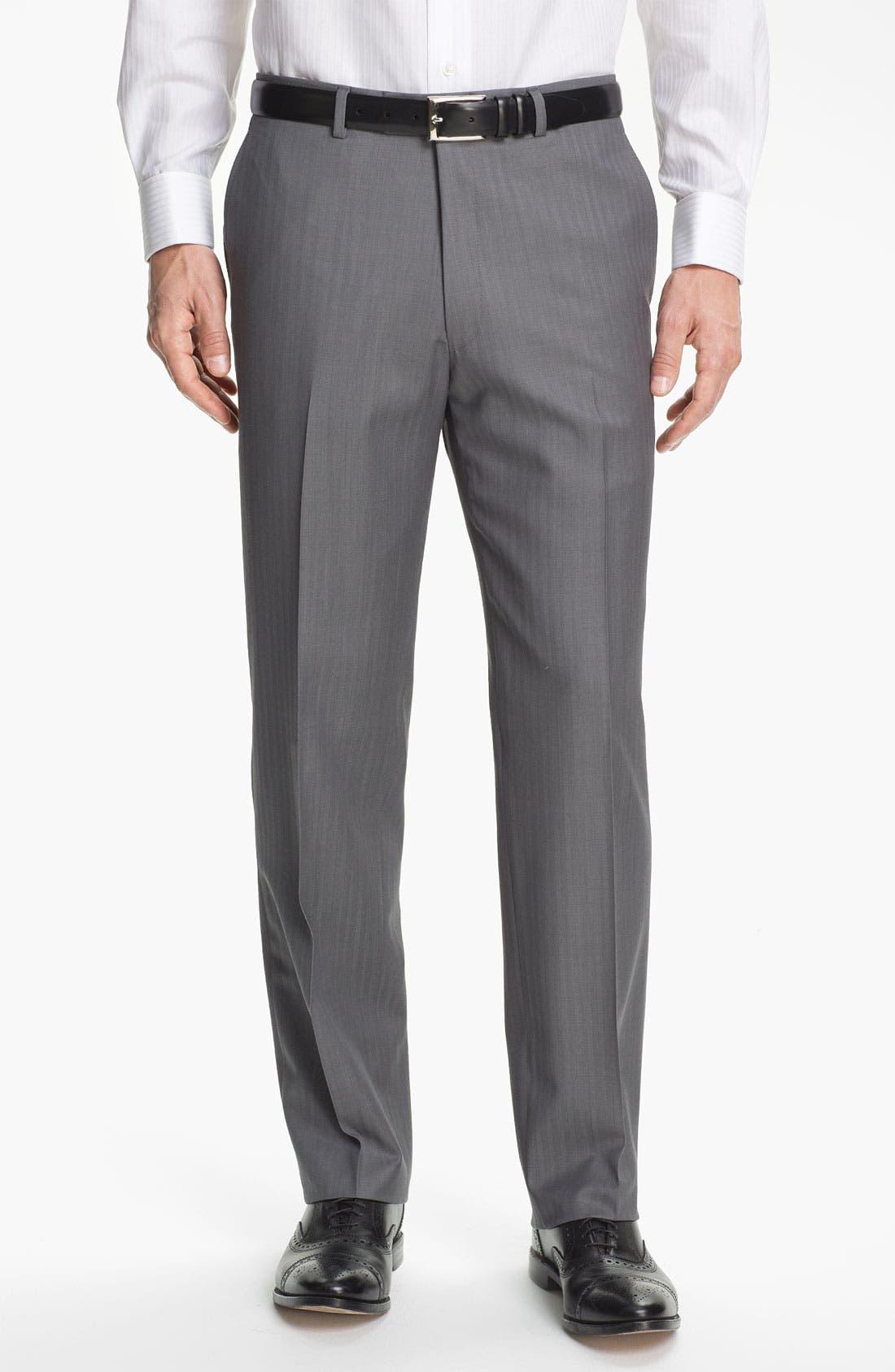 Alternate Image 5  - Hart Schaffner Marx Herringbone Suit