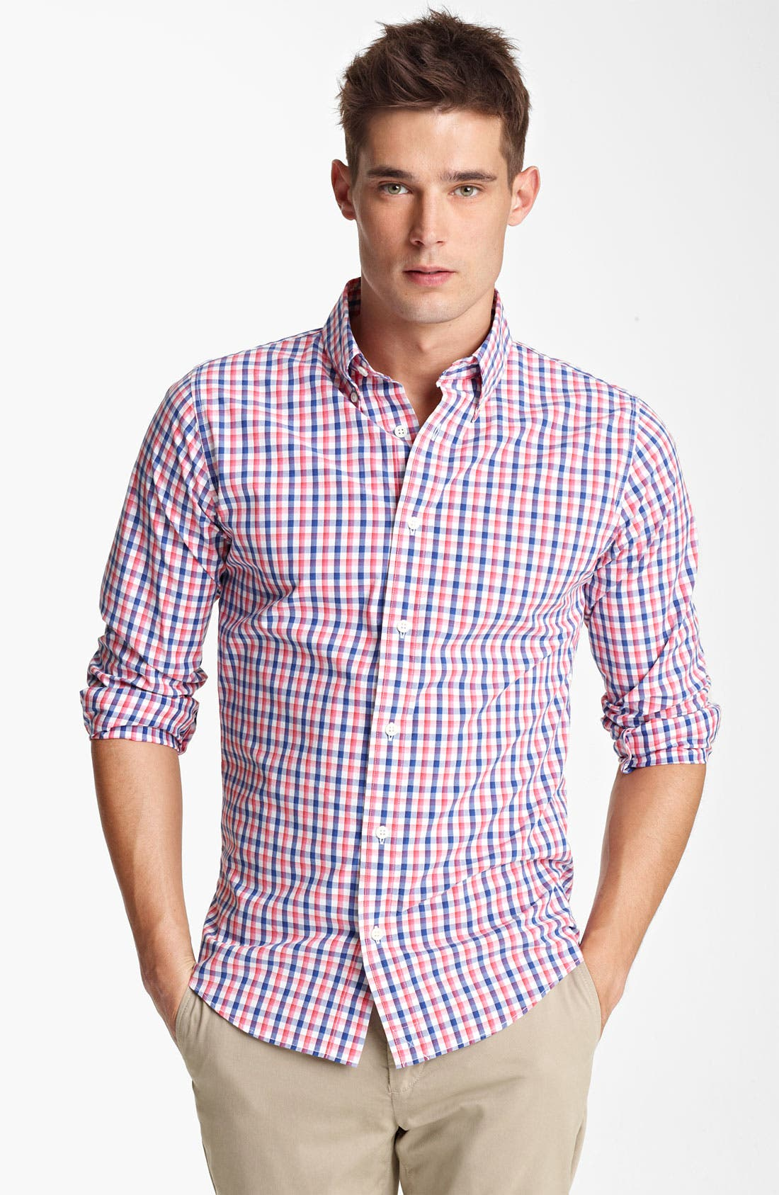 Main Image - Jack Spade 'Bailey' Gingham Check Shirt