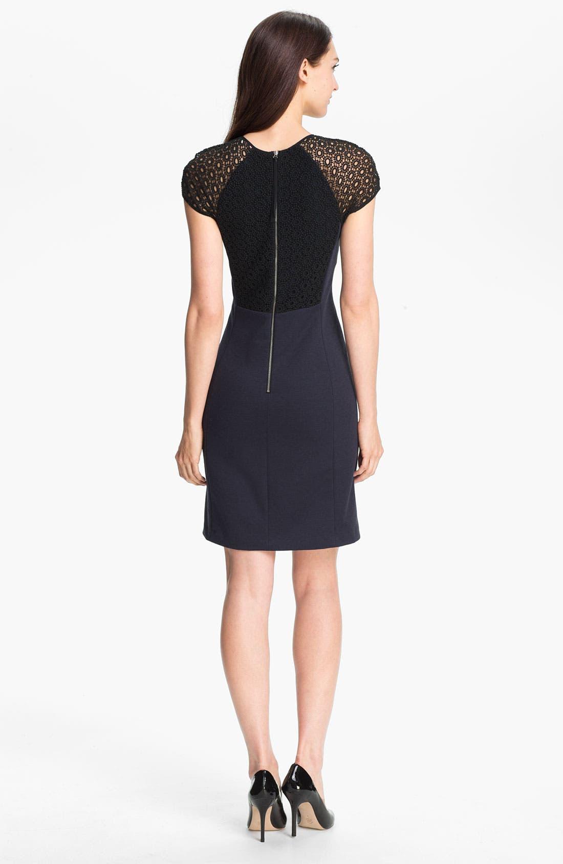 Alternate Image 2  - Rebecca Taylor Ponte Knit Sheath Dress
