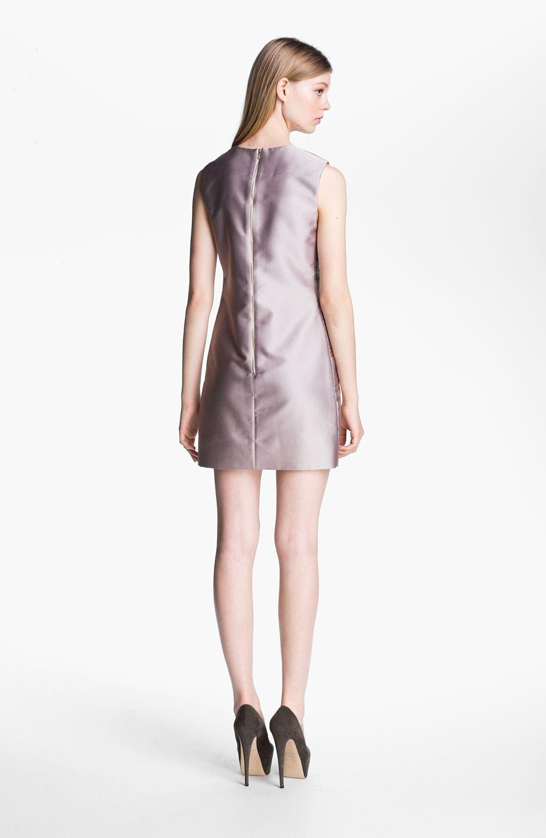 Alternate Image 2  - Victoria, Victoria Beckham Stripe Jacquard Shift Dress