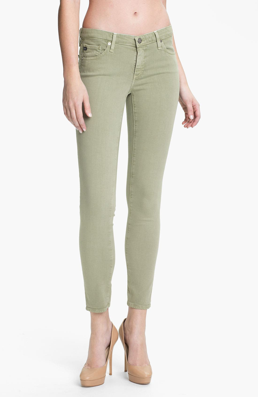 Alternate Image 1 Selected - AG Denim Leggings (Green)