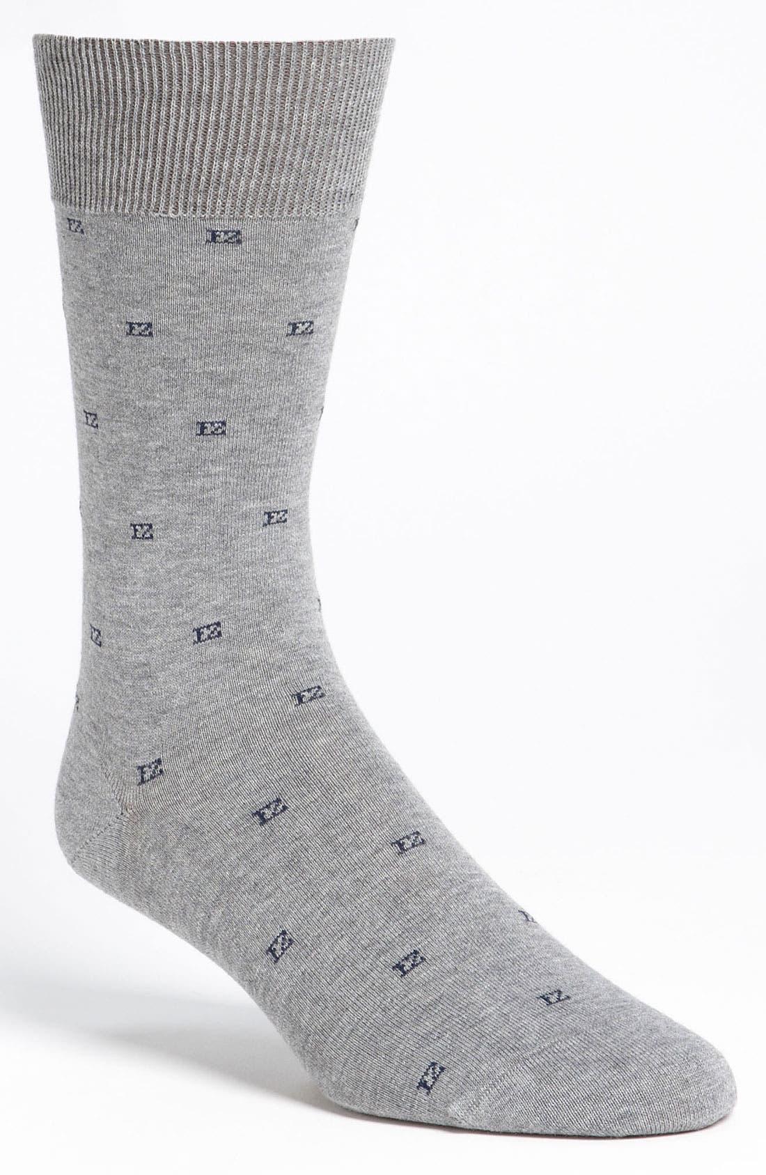 Alternate Image 1 Selected - Ermenegildo Zegna Logo Socks