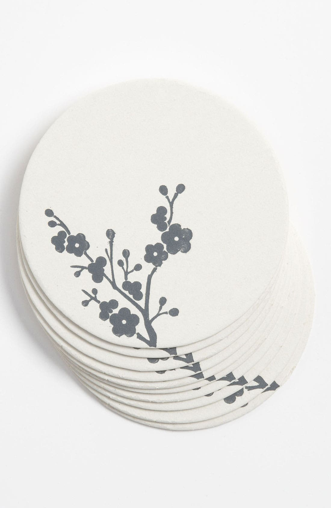Main Image - herry Blossoms' Letterpress Coasters (Set of 10)