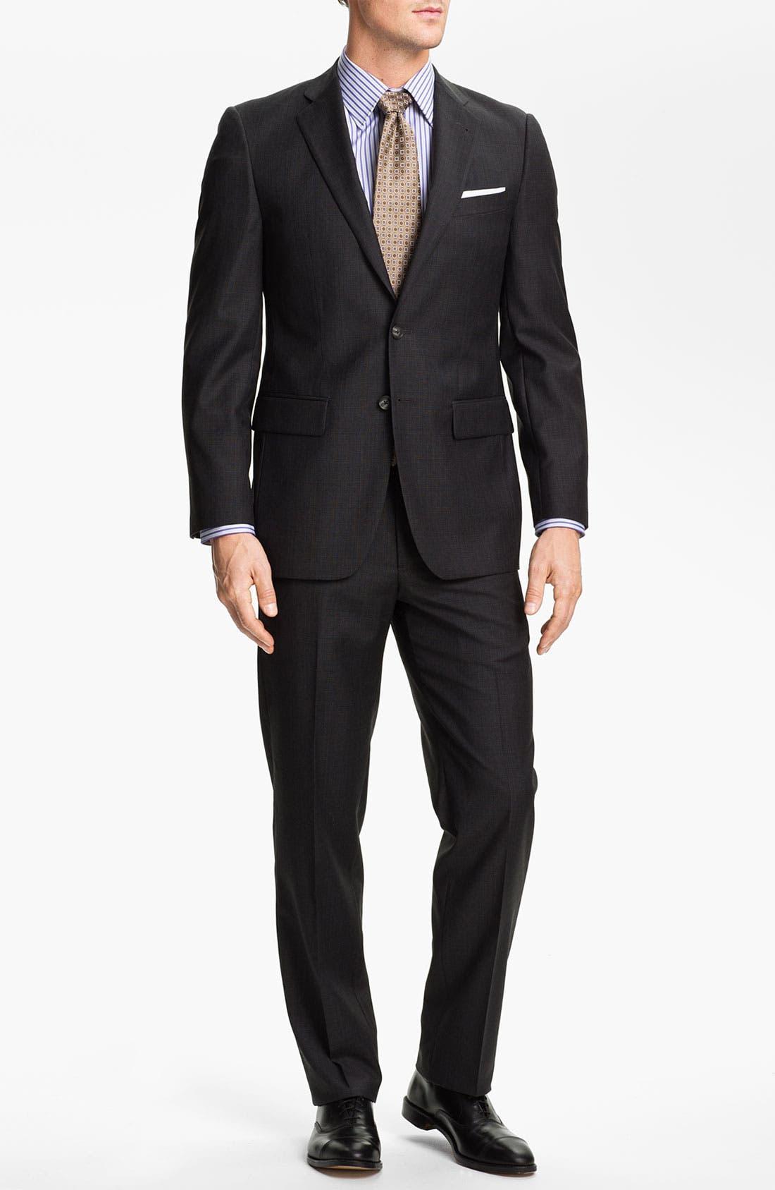 Alternate Image 2  - Joseph Abboud Charcoal Plaid Wool Suit