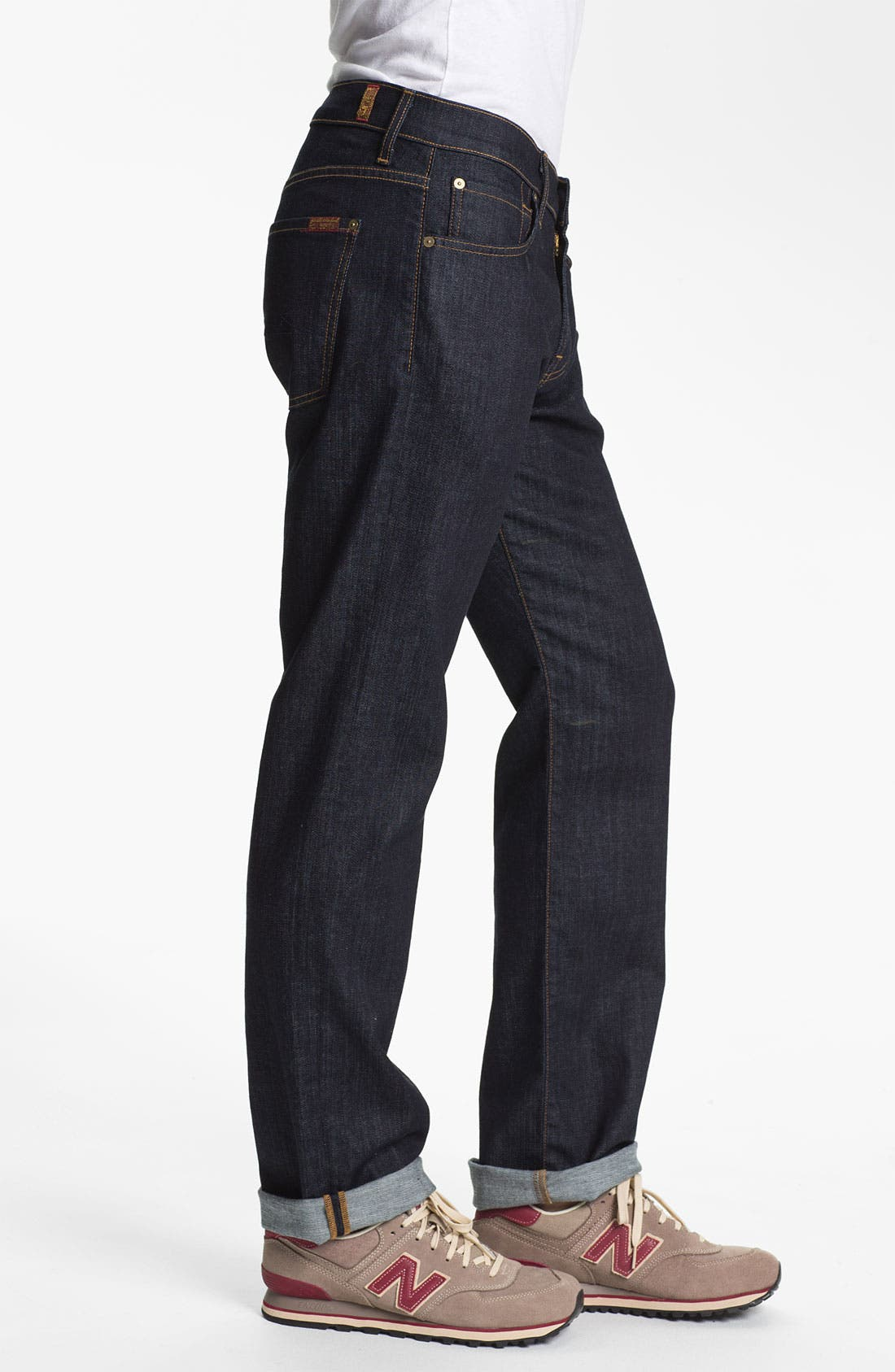 Alternate Image 3  - 7 For All Mankind® 'Carsen' Easy Straight Leg Jeans (Dark Clean)