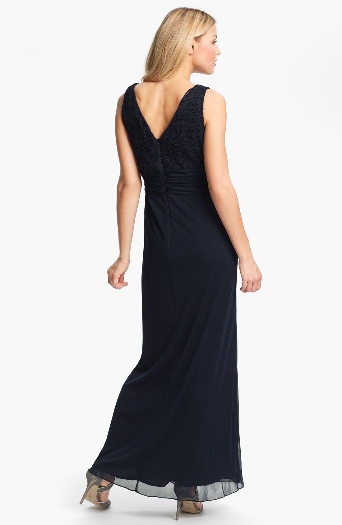 Alternate Image 3  - Patra Matte Lace Chiffon Gown & Bolero