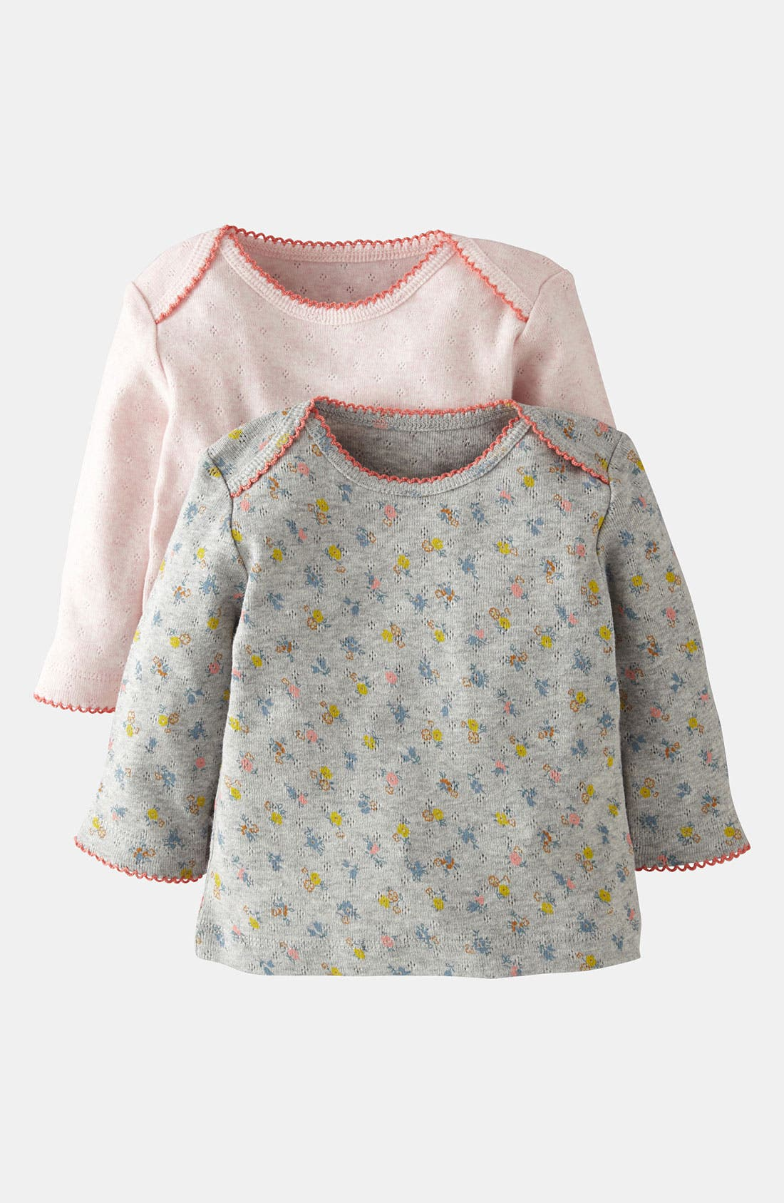 Alternate Image 1 Selected - Mini Boden Pointelle Shirt (2-Pack) (Baby)