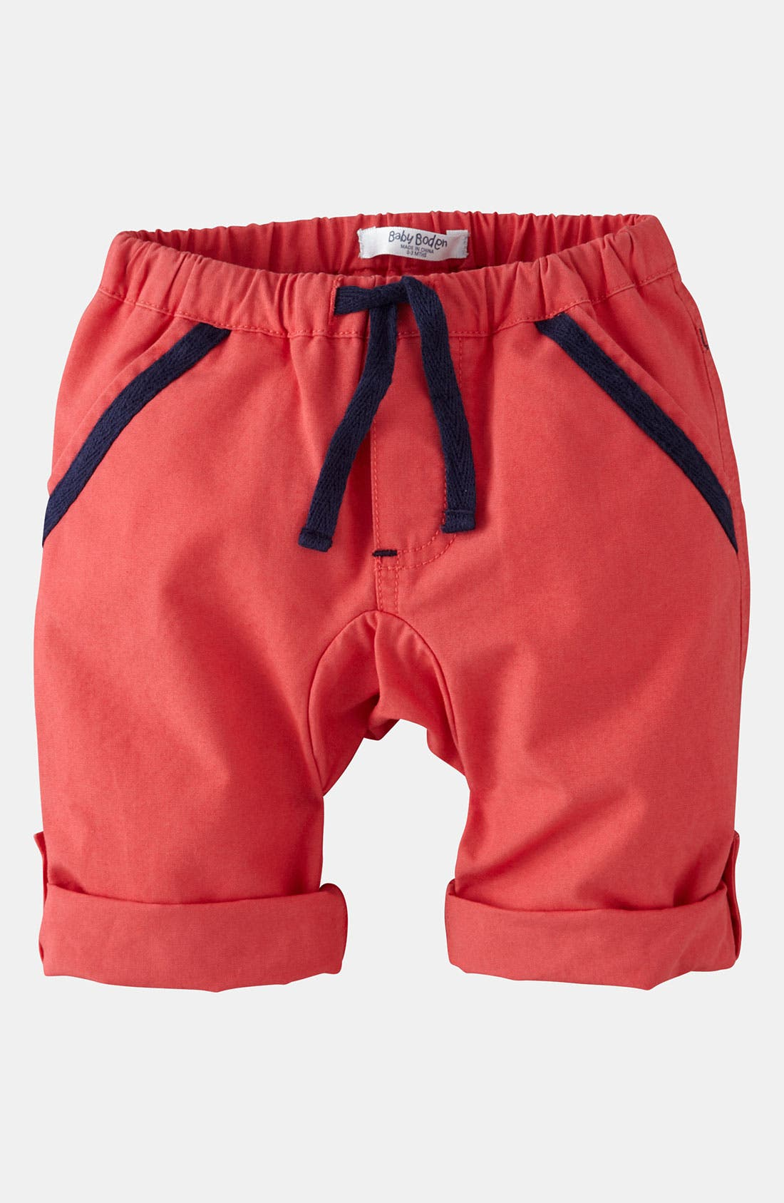 Alternate Image 1 Selected - Mini Boden 'Roll Up' Pants (Baby)