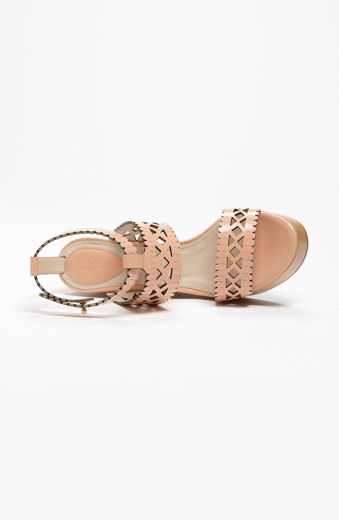 Alternate Image 3  - Chloé Laser Cut Wedge Sandal