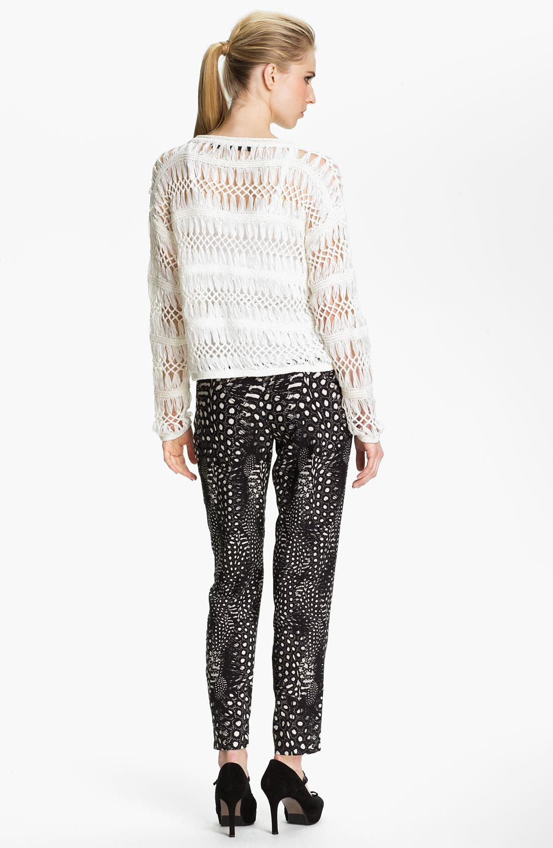 Alternate Image 3  - Cut25 Feather & Dot Print Pants