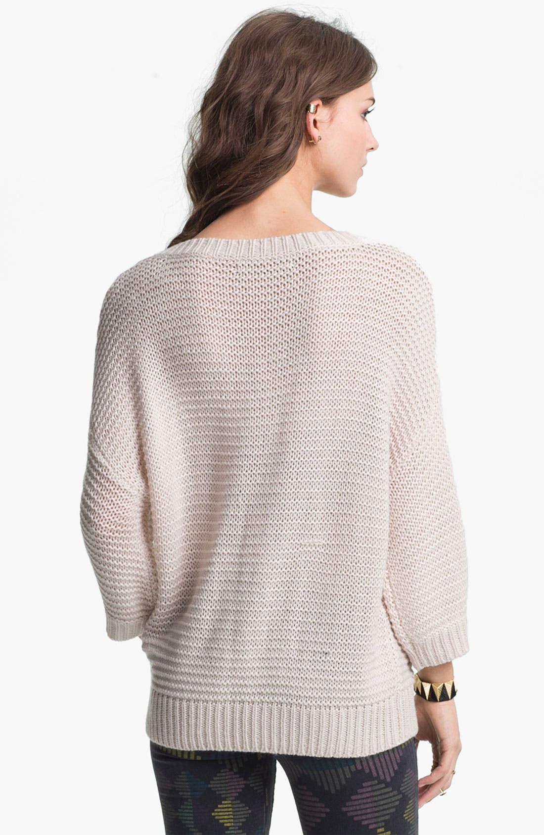 Alternate Image 2  - Rubbish® Fringed Slouchy Sweater (Juniors)