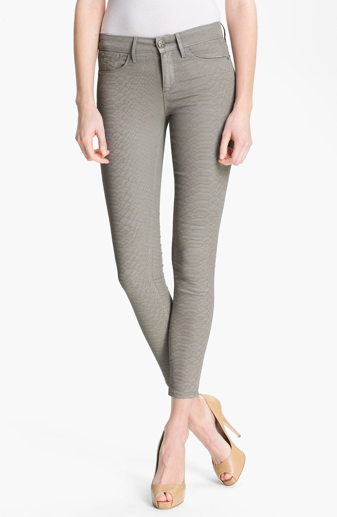 Alternate Image 1 Selected - Habitual 'Grace' Coated Print Skinny Jeans
