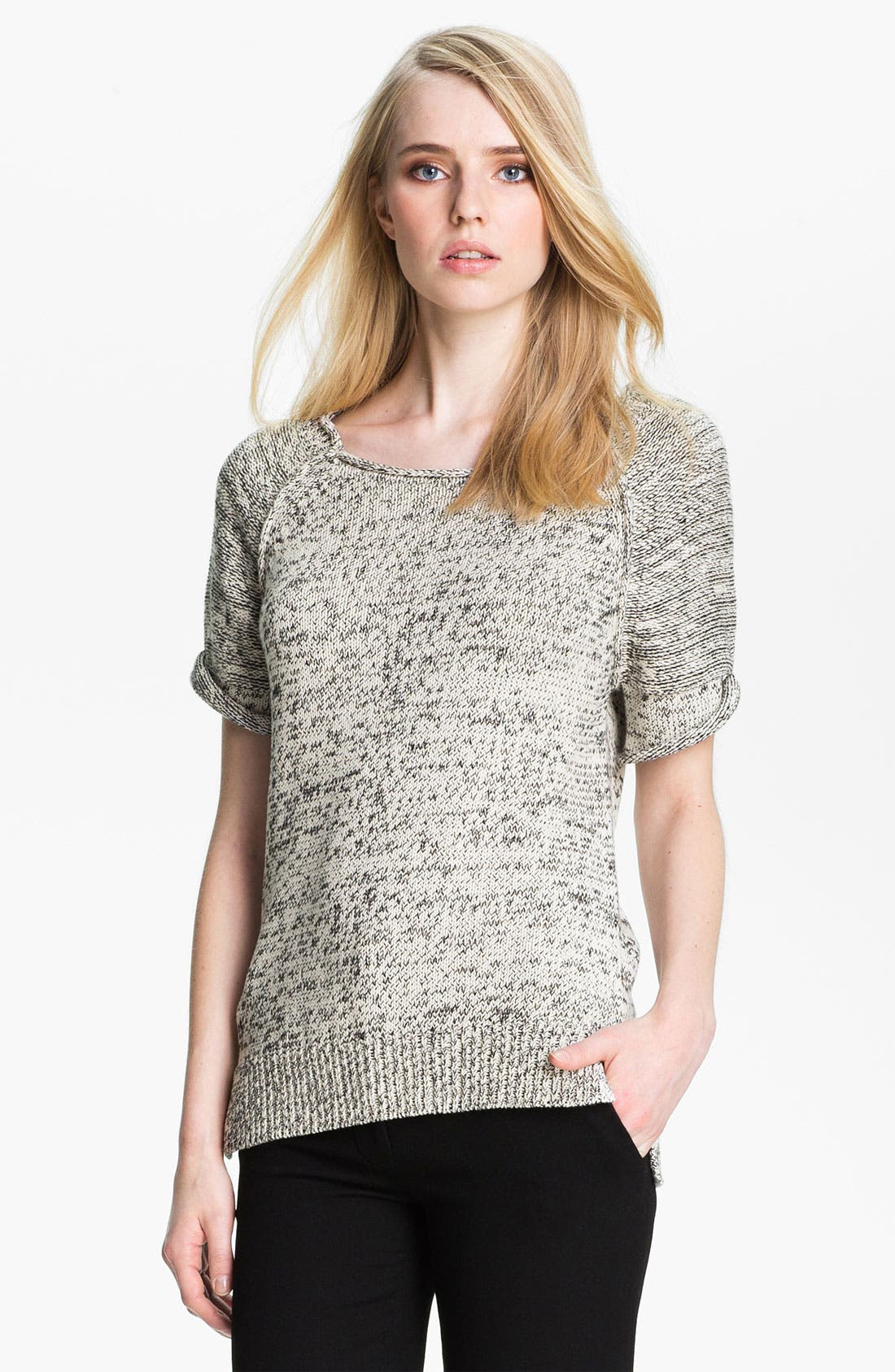 Alternate Image 2  - Halston Heritage Roll Edge Mixed Yarn Sweater
