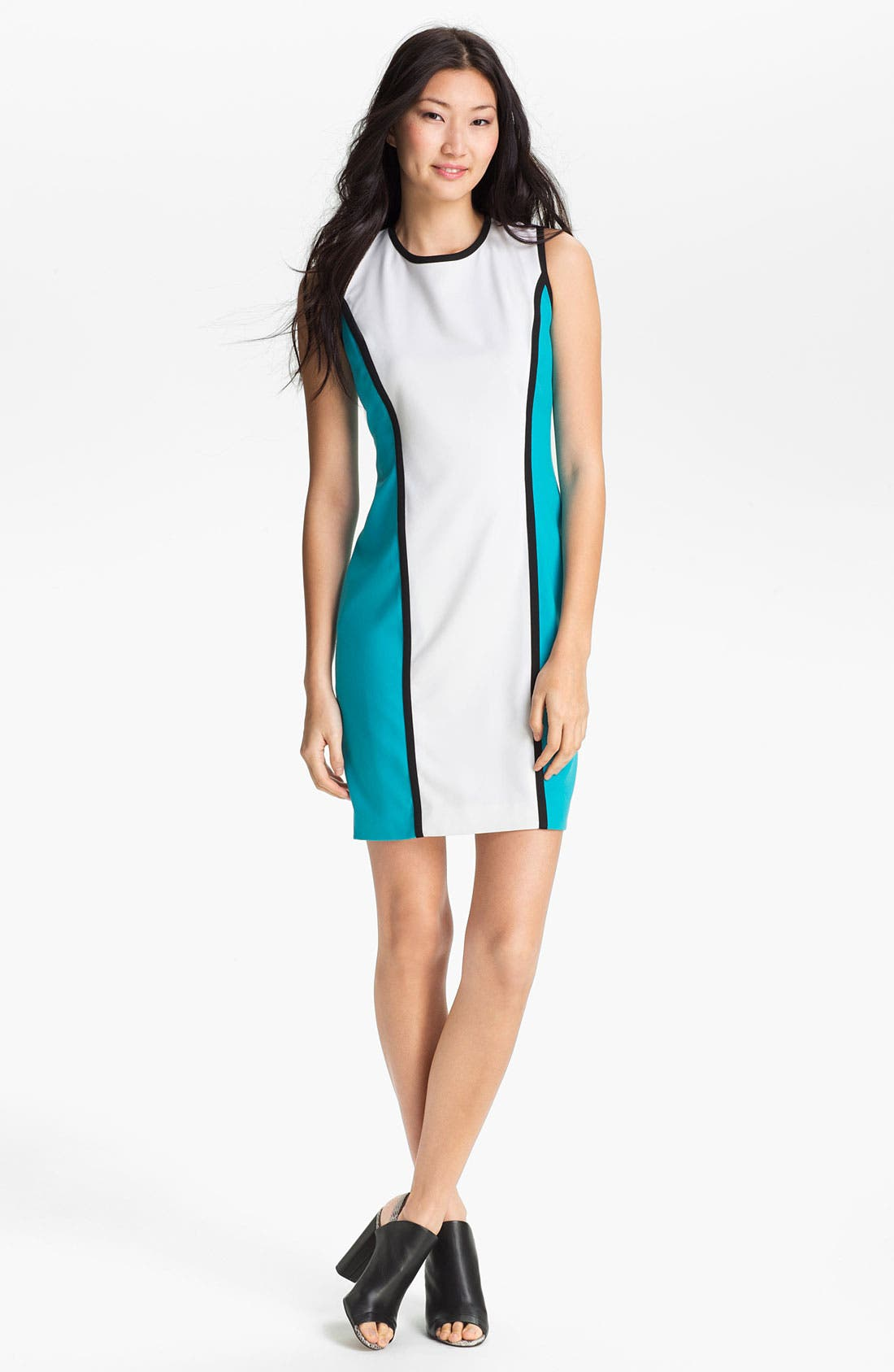 Alternate Image 1 Selected - Calvin Klein Colorblock Sheath Dress