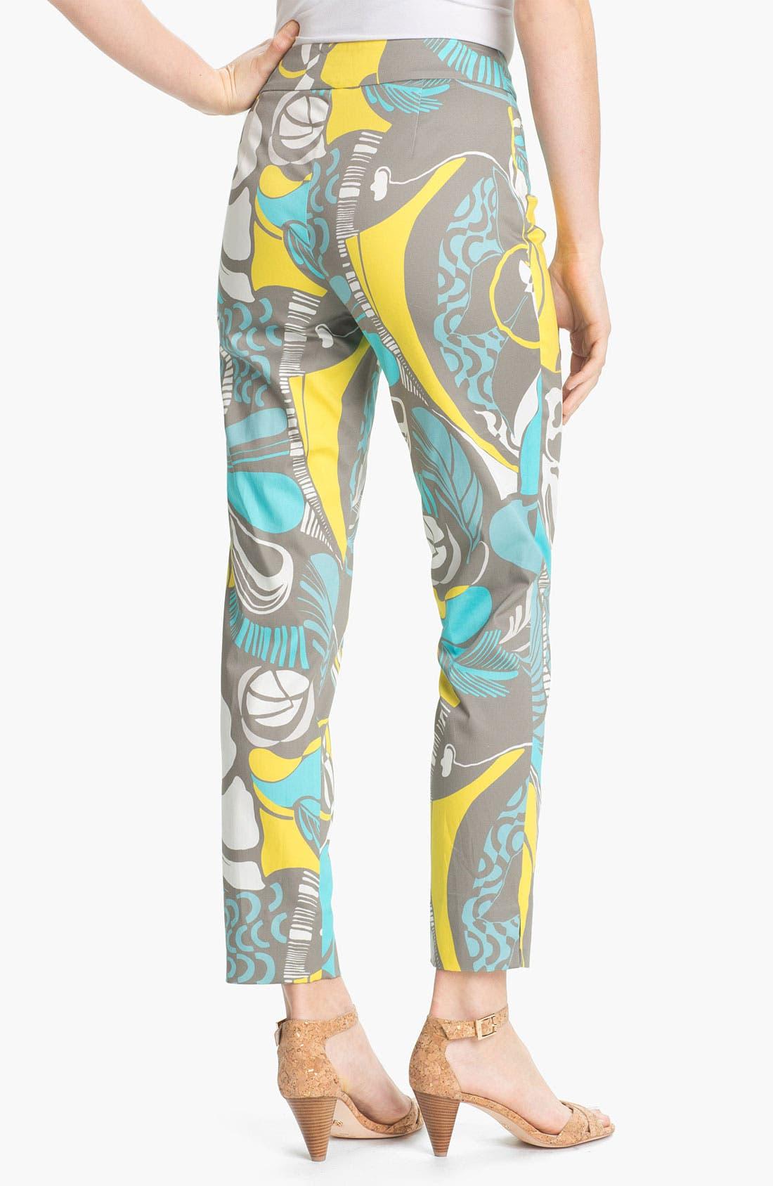 Alternate Image 2  - Lafayette 148 New York 'Ibiza' Slim Ankle Pants