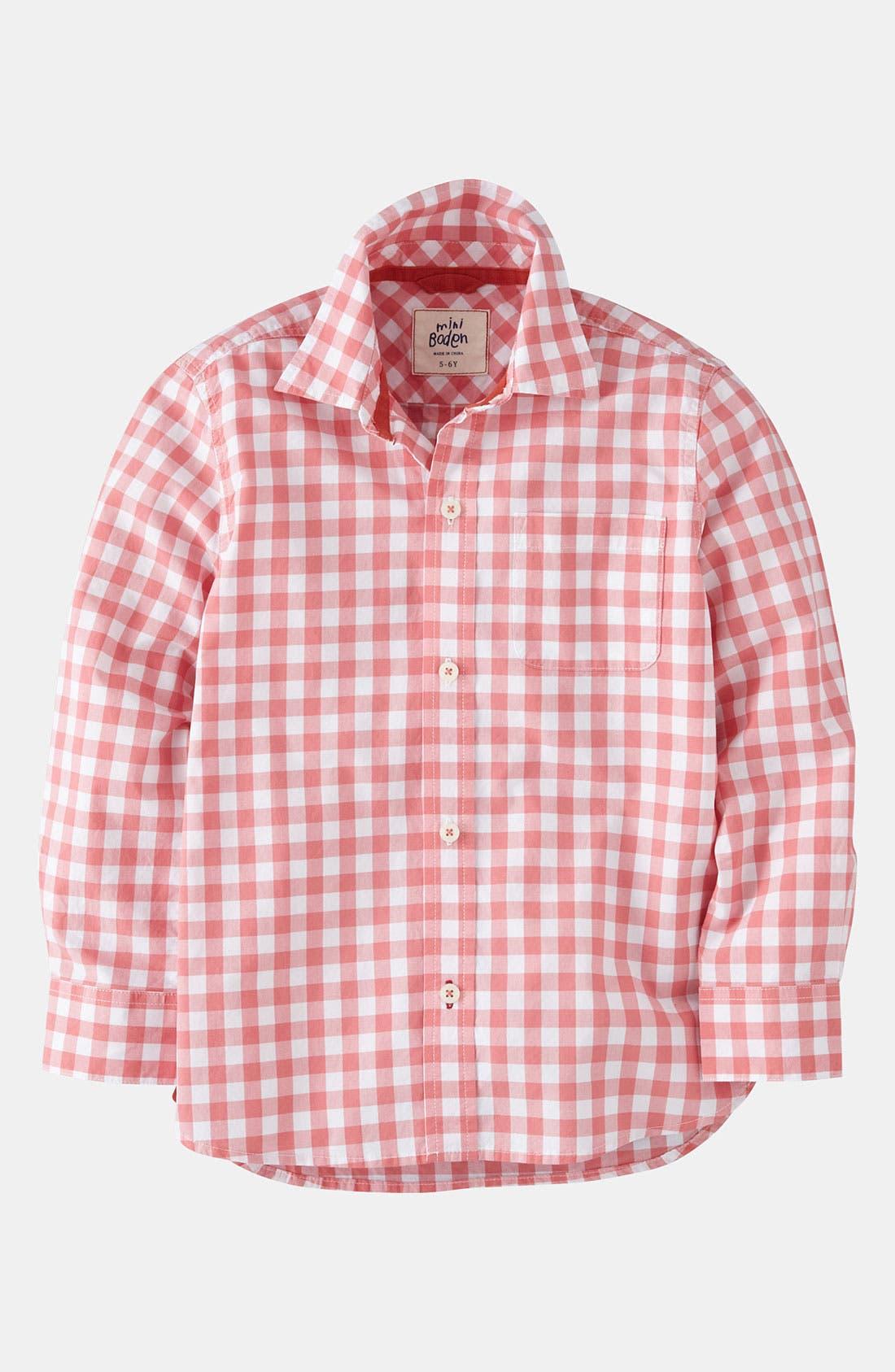 Main Image - Mini Boden 'Everyday' Woven Shirt (Little Boys & Big Boys)
