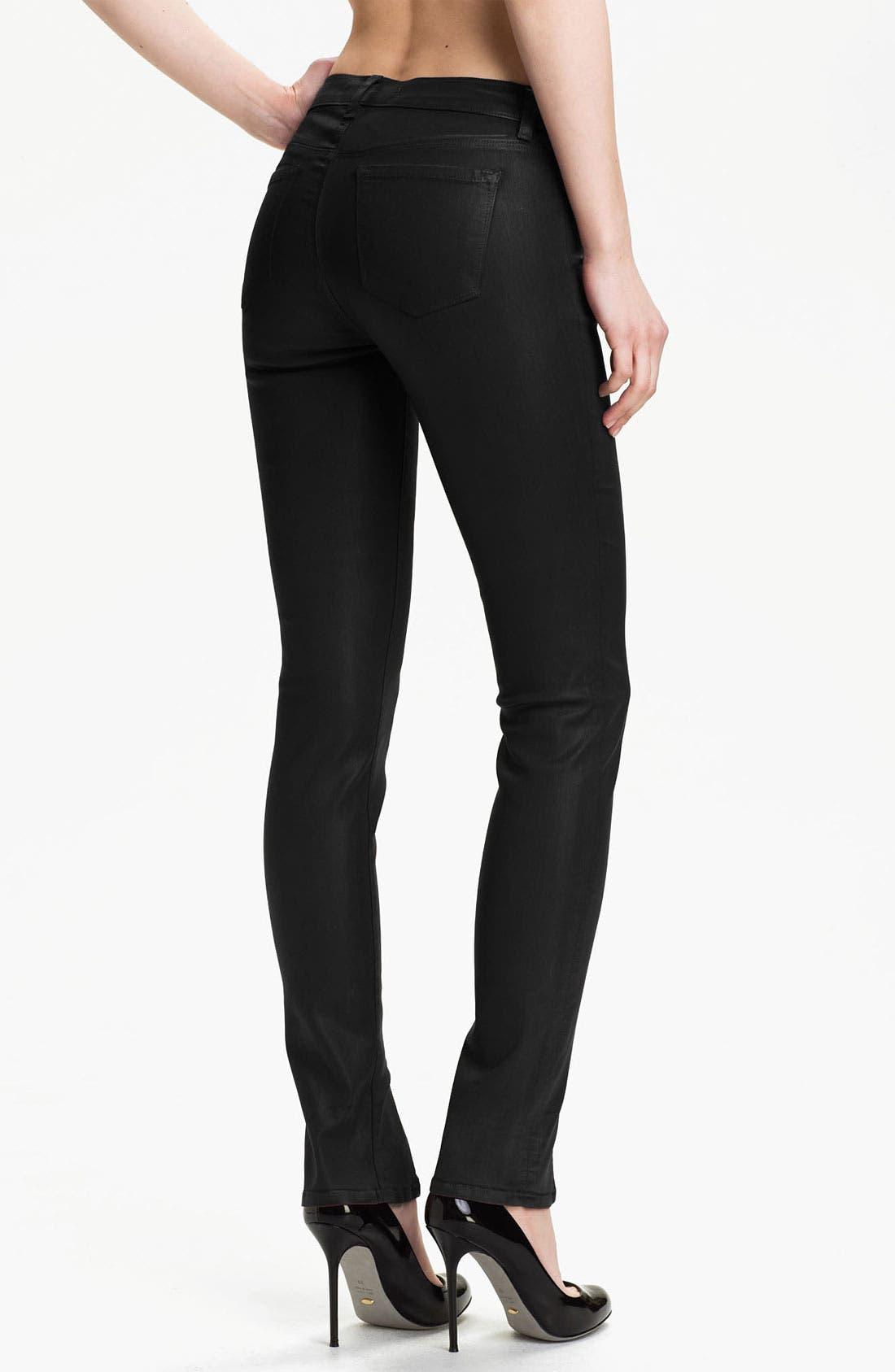 Alternate Image 2  - J Brand Coated Stretch Skinny Jeans