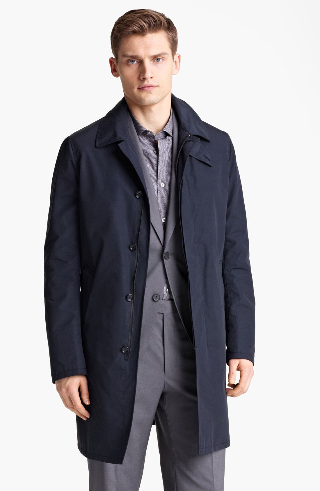 Alternate Image 1 Selected - Z Zegna Cotton Blend Car Coat
