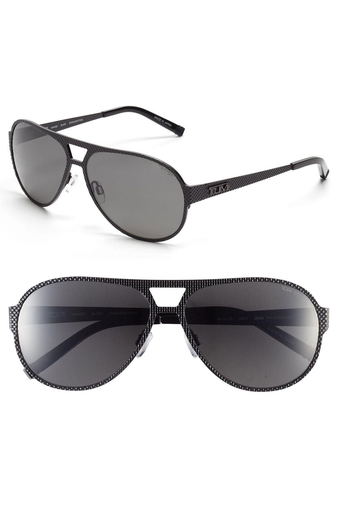 Main Image - Tumi 'Kawazu' 59mm Polarized Sunglasses