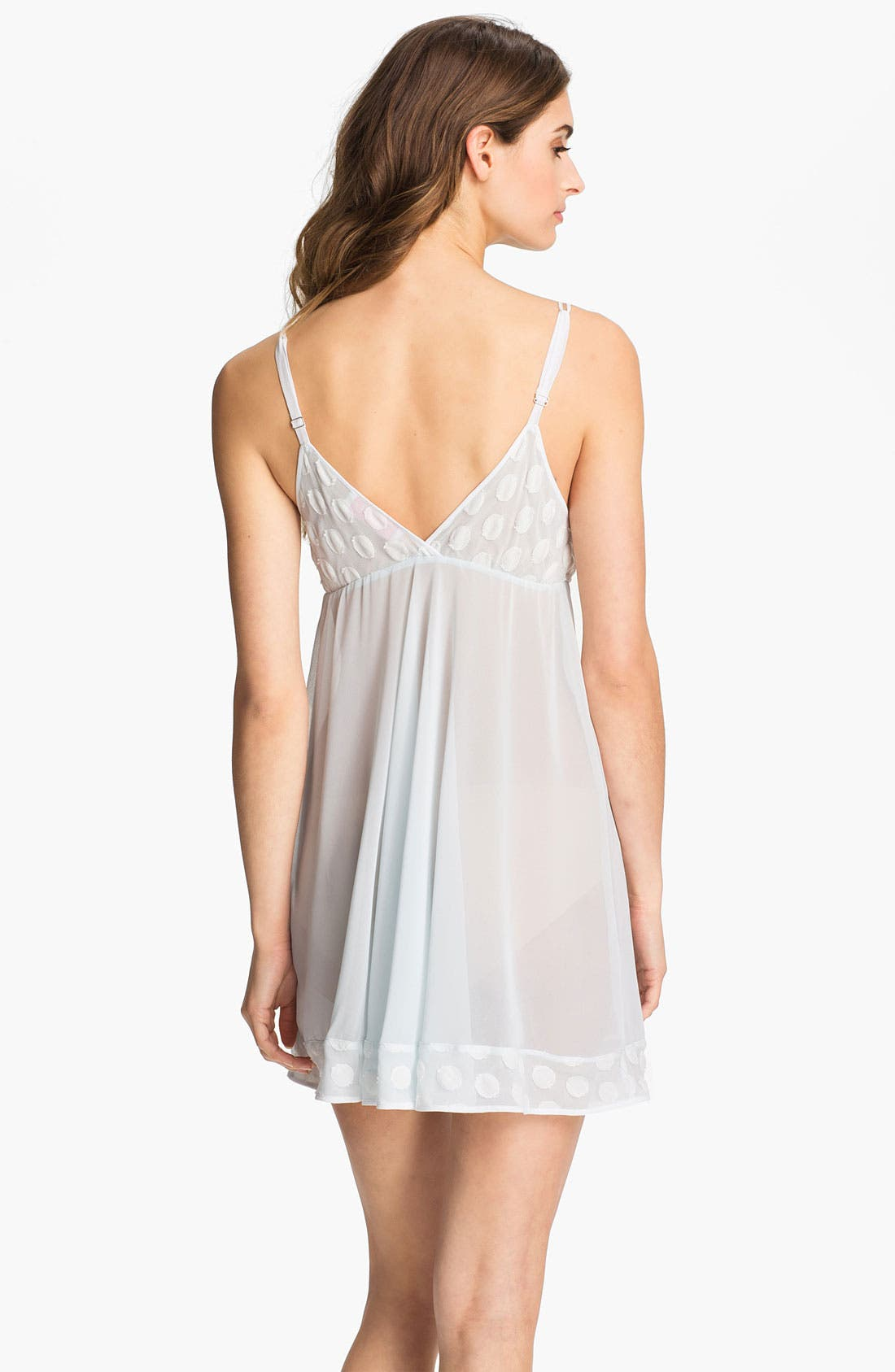Alternate Image 2  - Oscar de la Renta Sleepwear 'Sweet Dot' Georgette Chemise