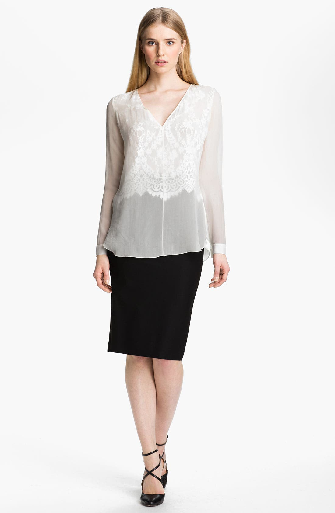 Main Image - Robert Rodriguez Illusion Lace Shirt