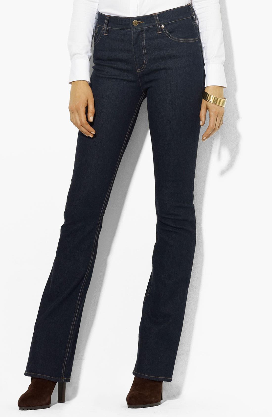 Main Image - Lauren Ralph Lauren Slimming Bootcut Jeans (Petite) (Online Only)