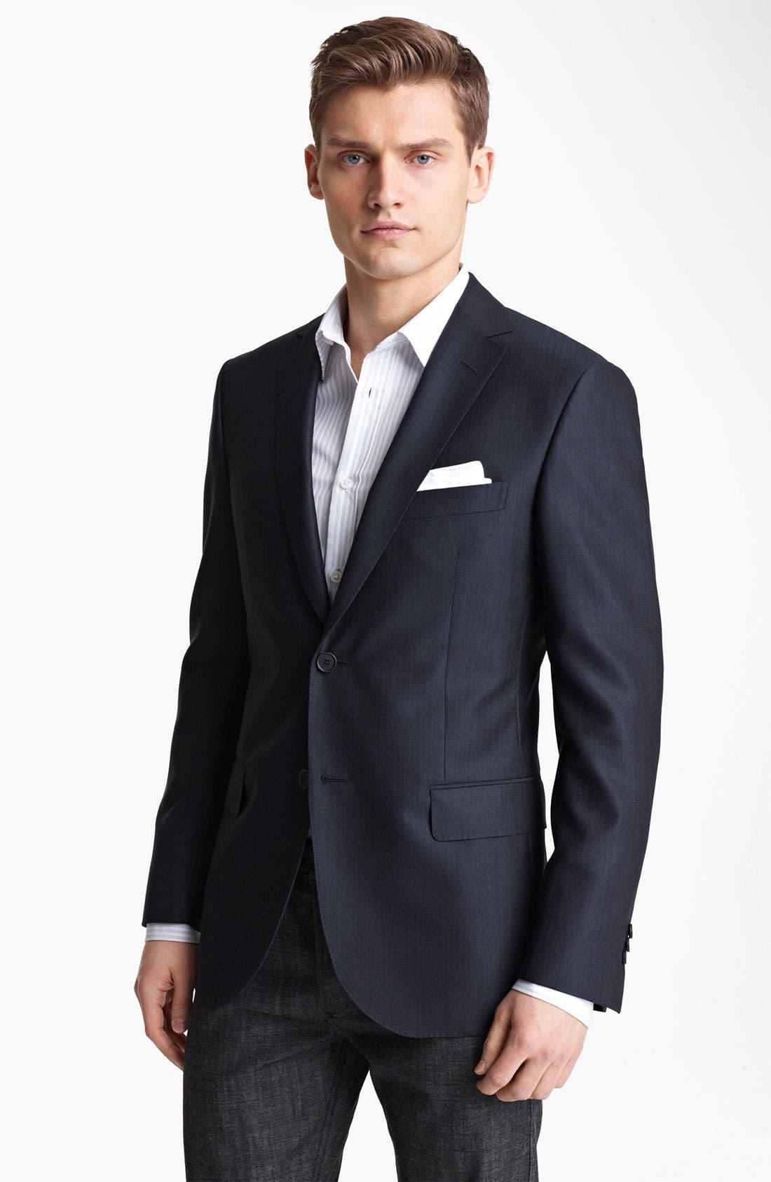 Alternate Image 1 Selected - Z Zegna Trim Fit Wool Blend Blazer