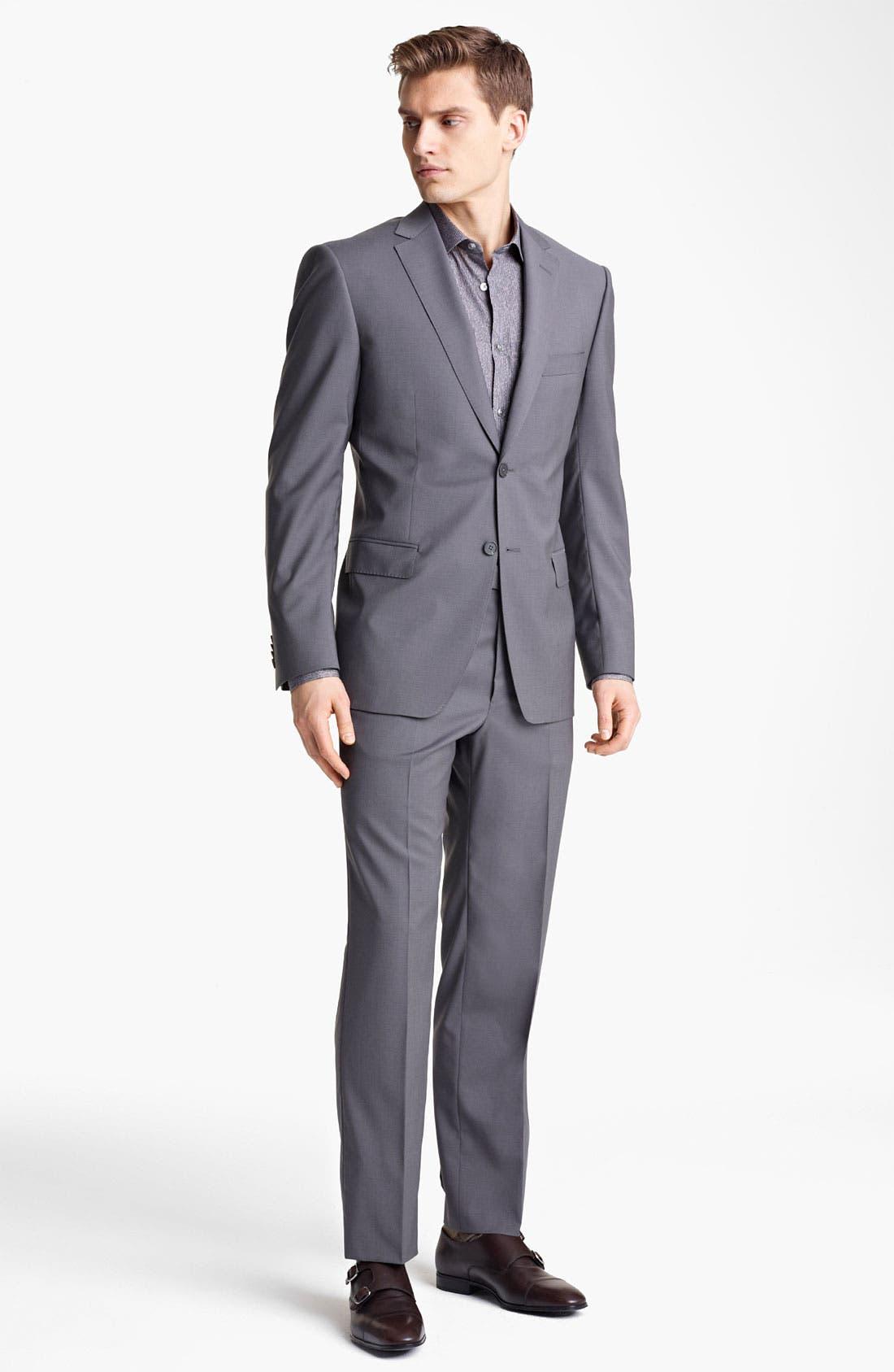 Main Image - Z Zegna Trim Fit Wool Suit