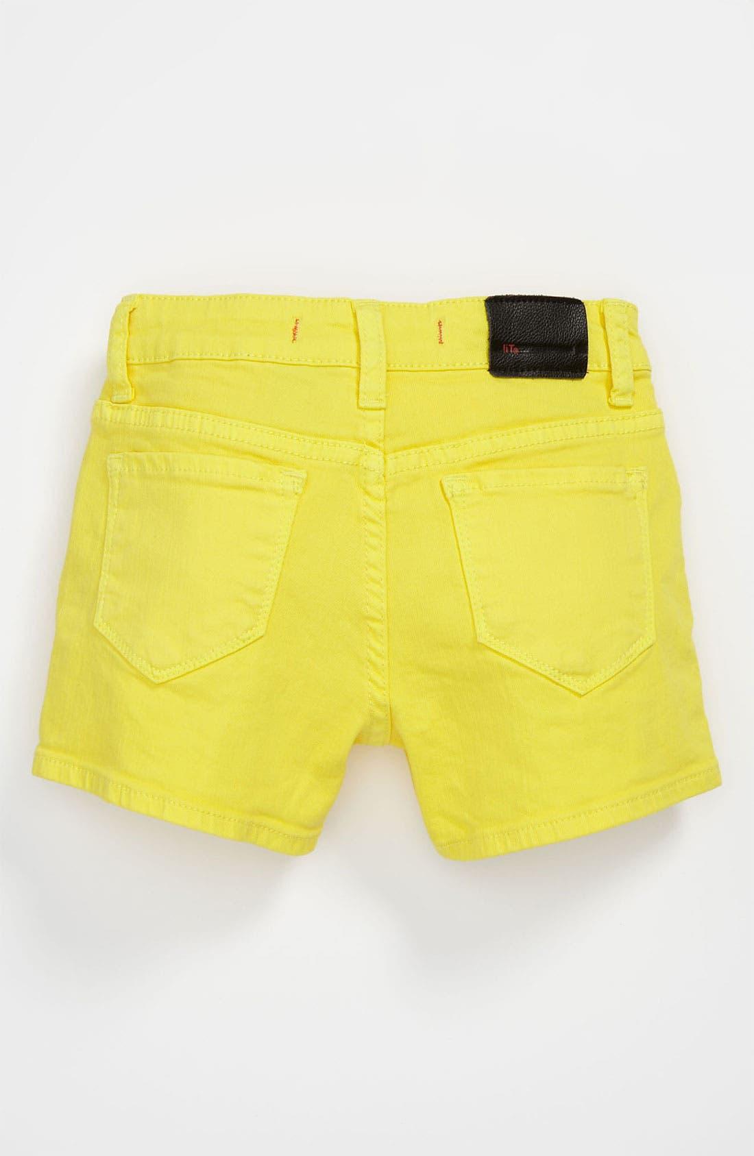 Alternate Image 1 Selected - !iT JEANS Five Pocket Shorts (Big Girls)