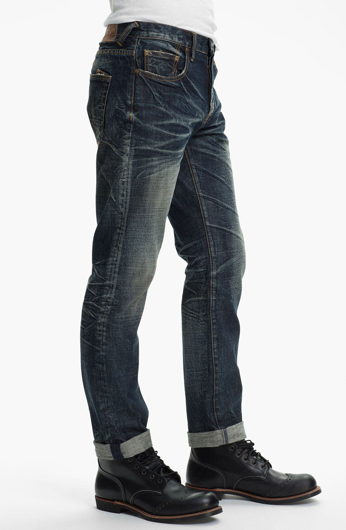 Alternate Image 3  - PRPS 'Barracuda' Straight Leg Jeans (Dark Blue)