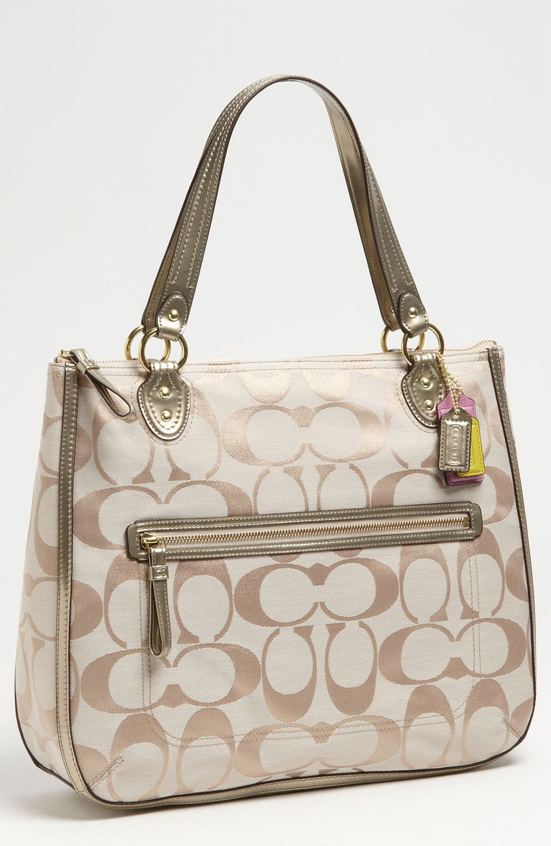 Alternate Image 1 Selected - COACH 'Poppy Signature Metallic - Ella' Tote