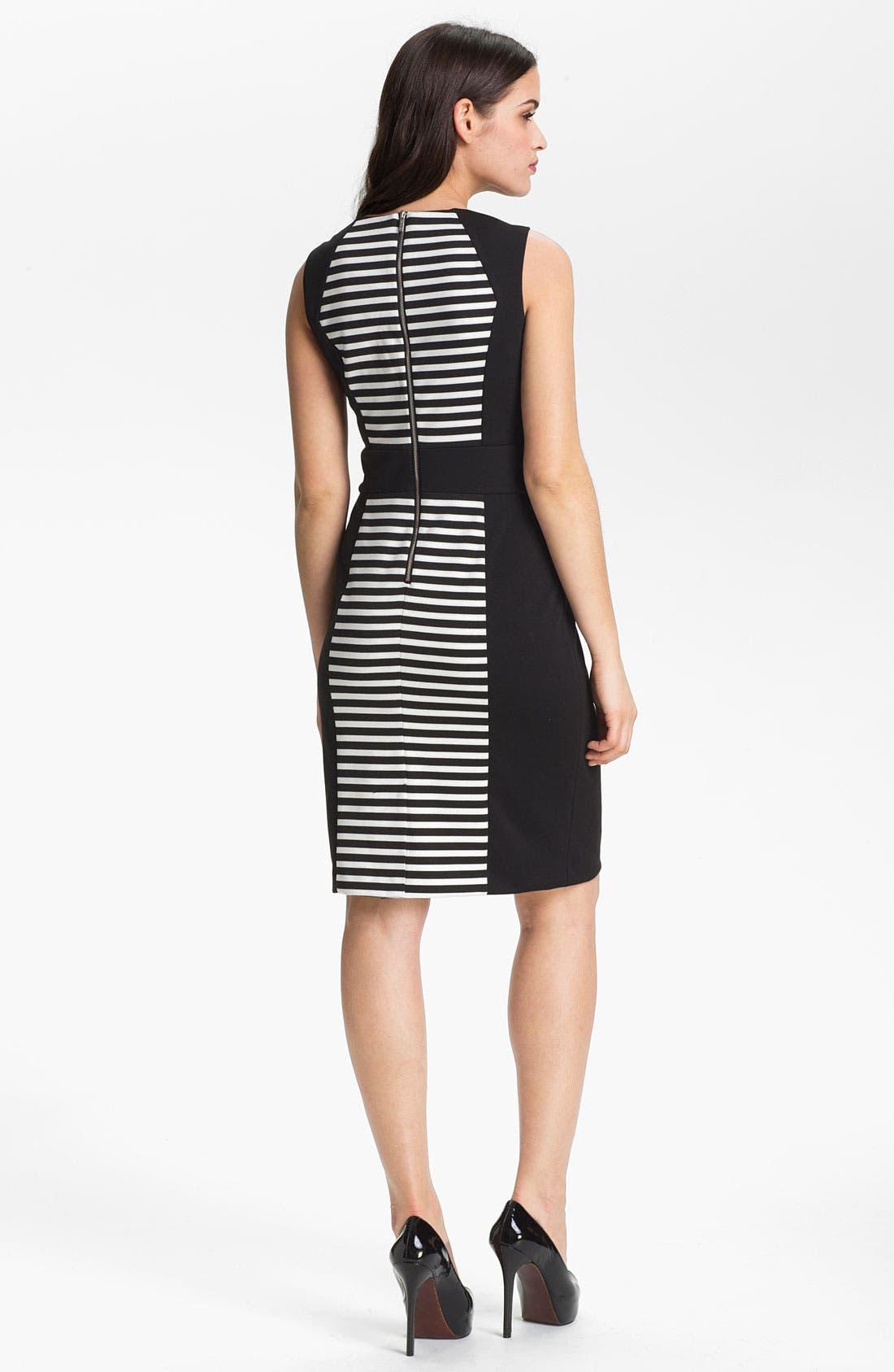 Alternate Image 2  - Calvin Klein Sleeveless Stripe Dress
