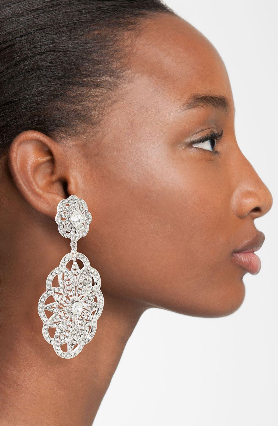 Alternate Image 2  - Nina 'Bluebell Vintage' Crystal Statement Earrings