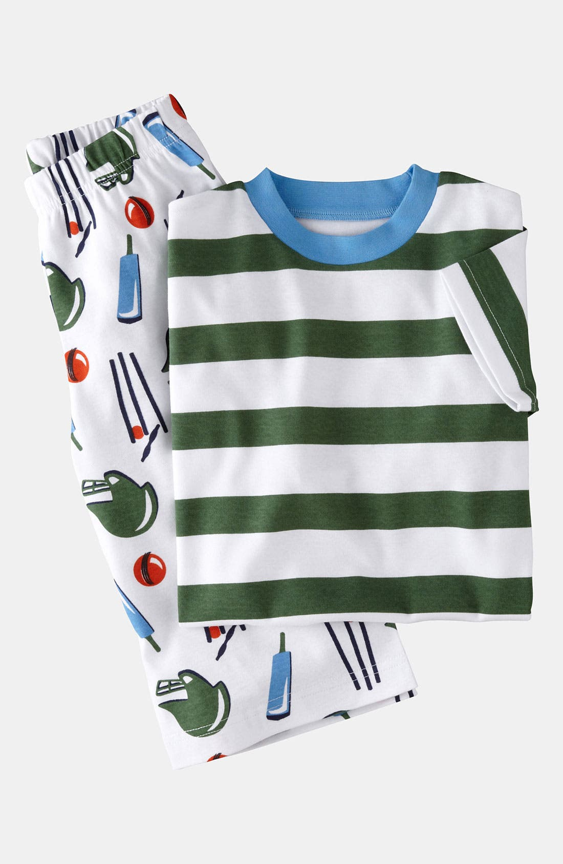 Main Image - Mini Boden Two Piece Fitted Pajamas (Little Boys & Big Boys)