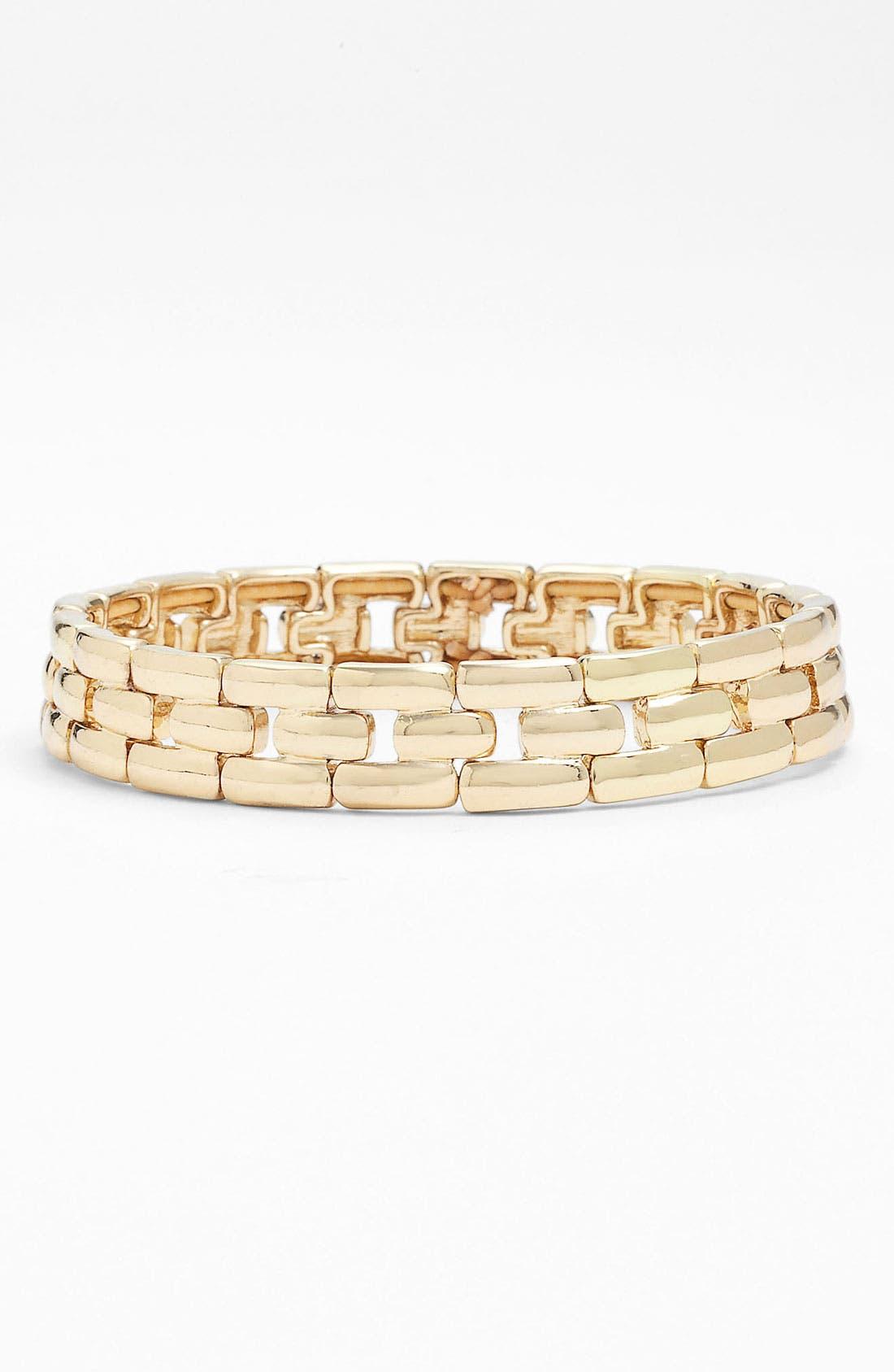 Main Image - Anne Klein Lattice Link Stretch Bracelet