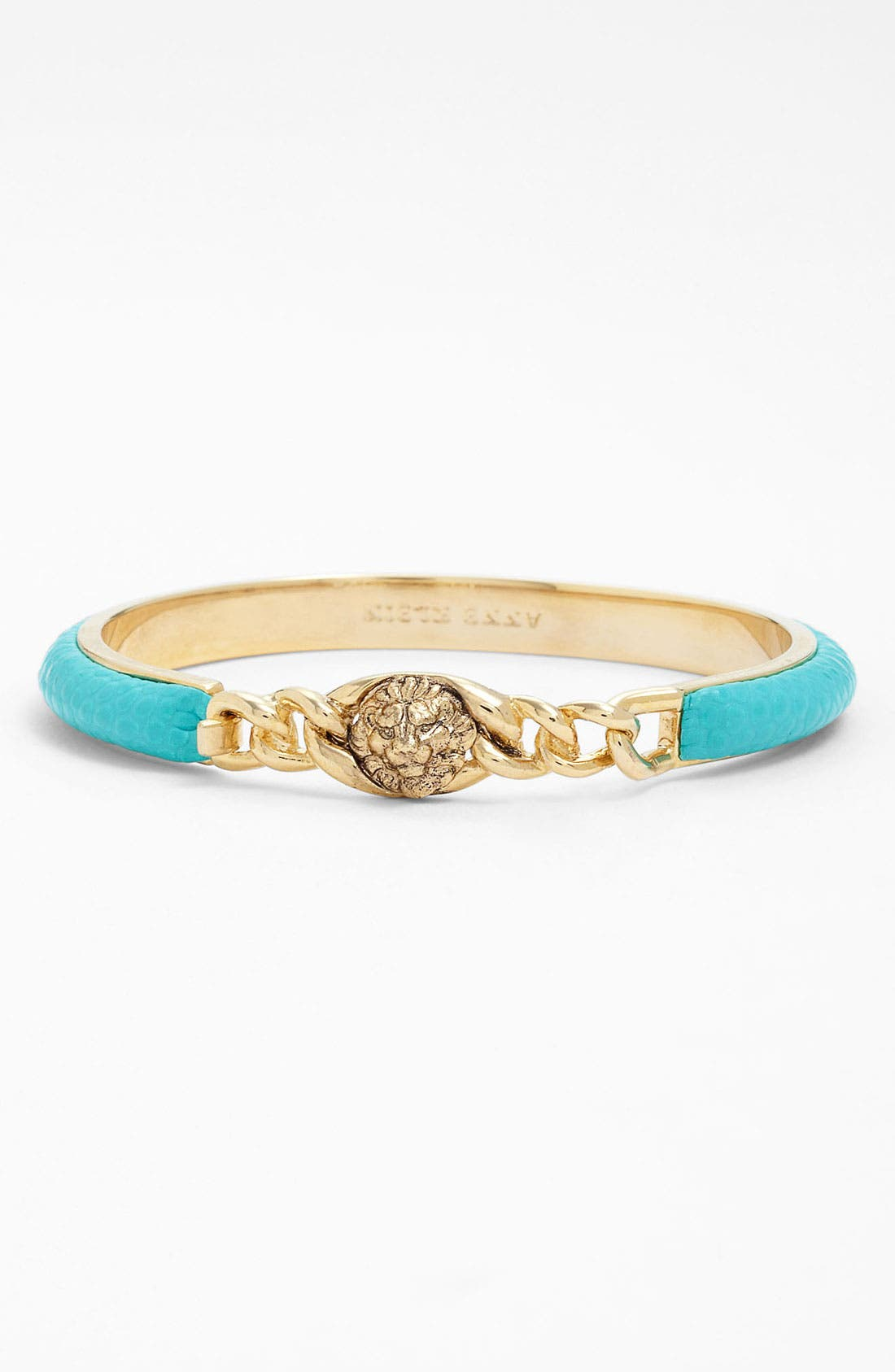 Main Image - Anne Klein 'Wild Side' Thin Leather Lionhead Bangle