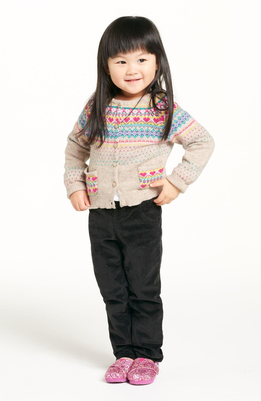 Main Image - United Colors of Benetton Kids Sweater & Velvet Pants (Infant)