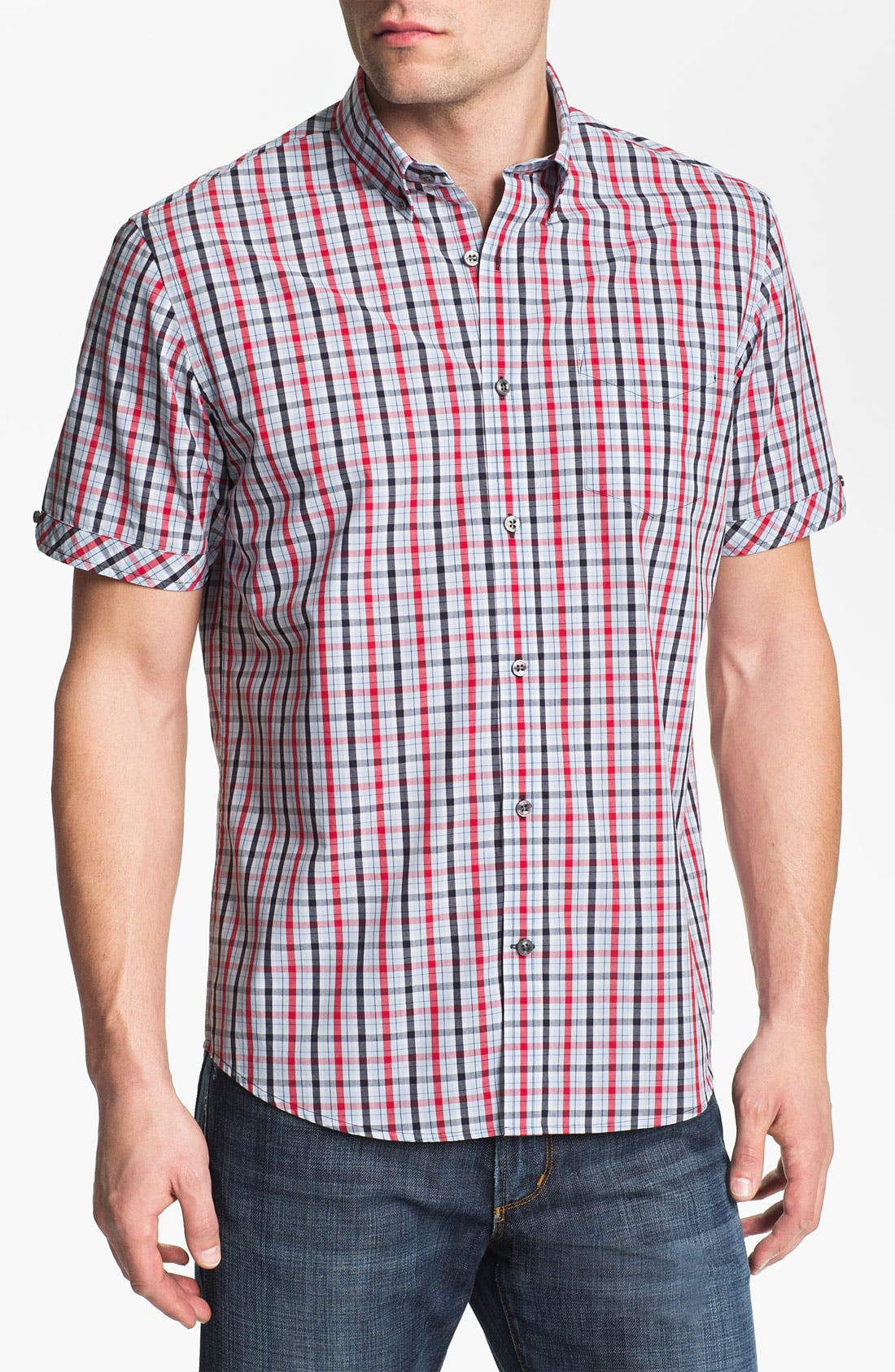 Main Image - James Campbell 'Ellis' Plaid Sport Shirt