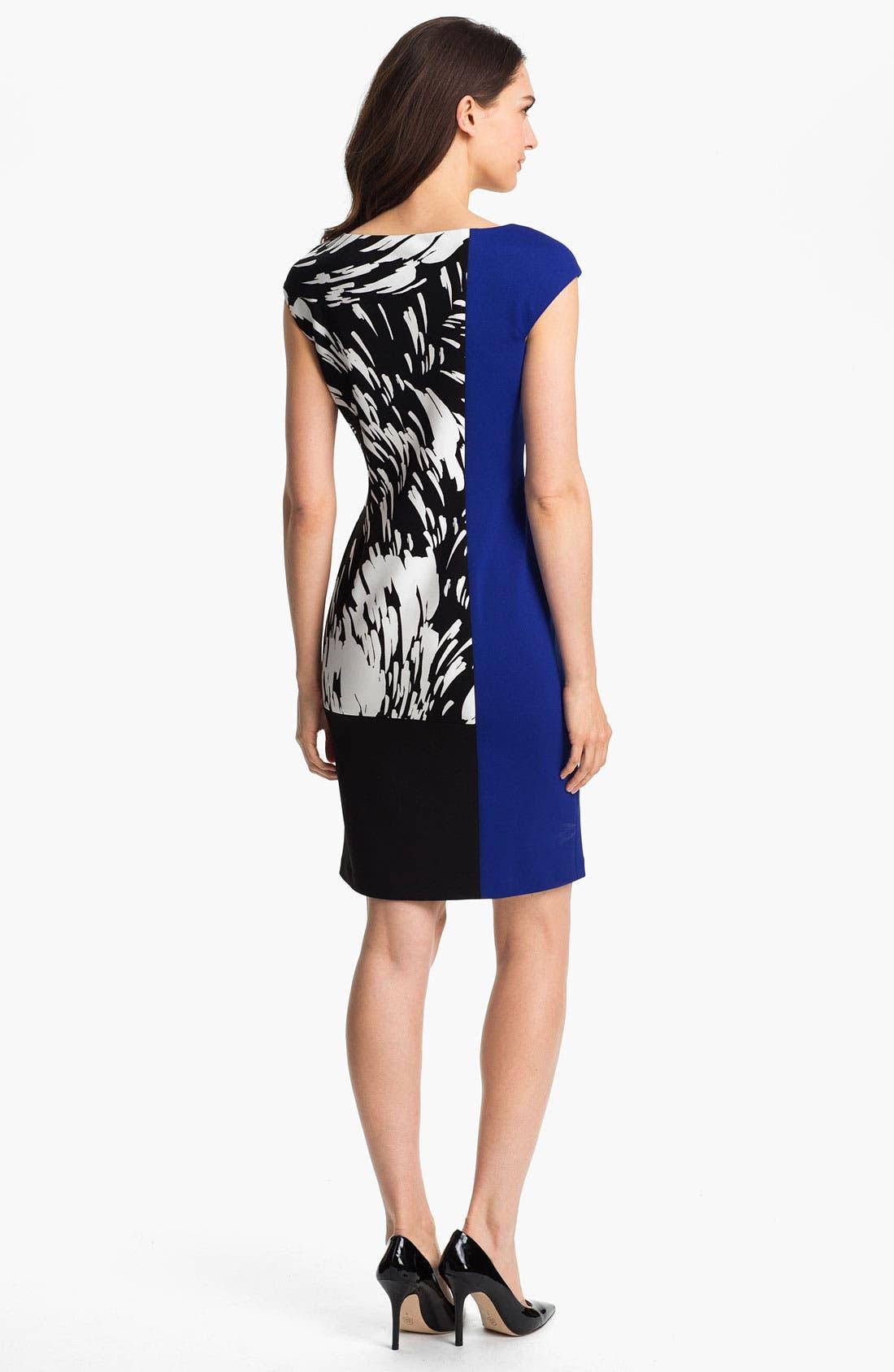 Alternate Image 2  - Maggy London Colorblock Print Sheath Dress