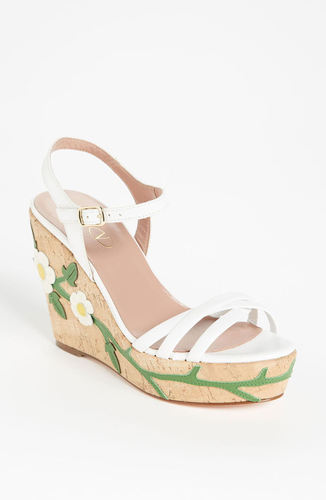Alternate Image 1 Selected - RED Valentino 'Daisy' Wedge Sandal