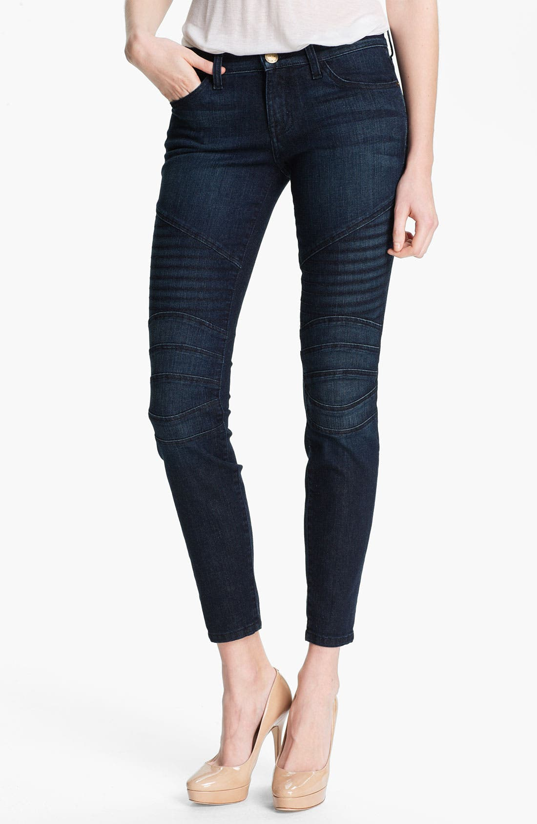 Alternate Image 1 Selected - Current/Elliott 'The Moto' Skinny Ankle Jeans (Raleigh)