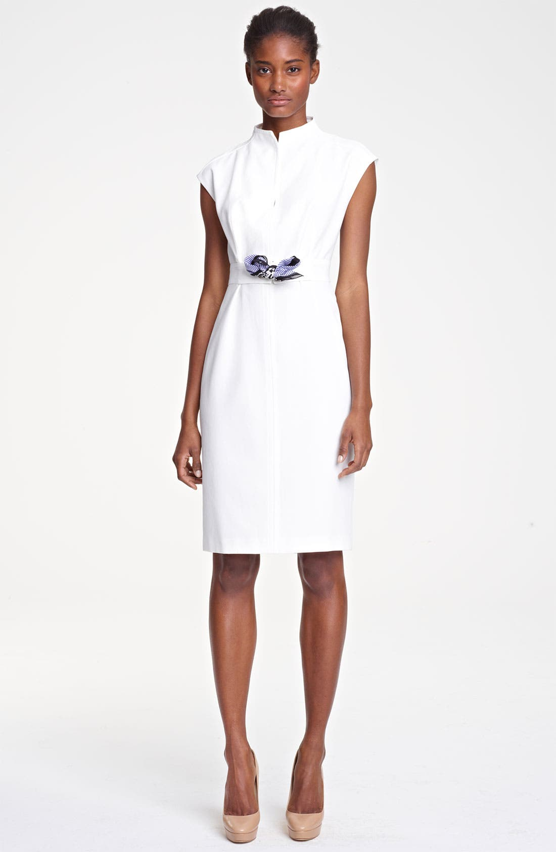 Main Image - Max Mara 'Alais' Belted Crepe Dress