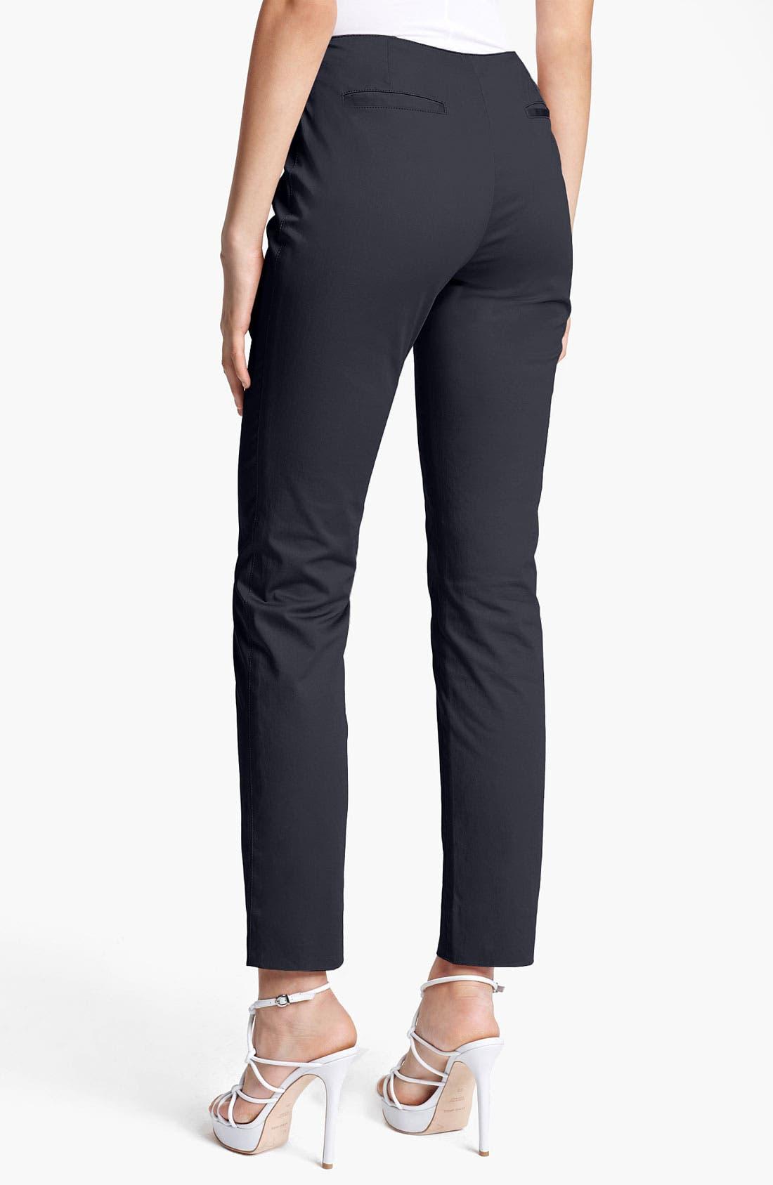 Alternate Image 2  - Armani Collezioni Stretch Cotton Pants